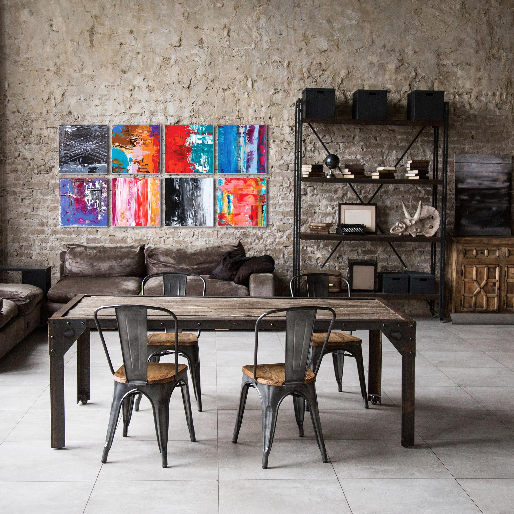 Abstract Wall Art 'Urban Windows Large' - Urban Decor on Metal or Plexiglass - Image 3