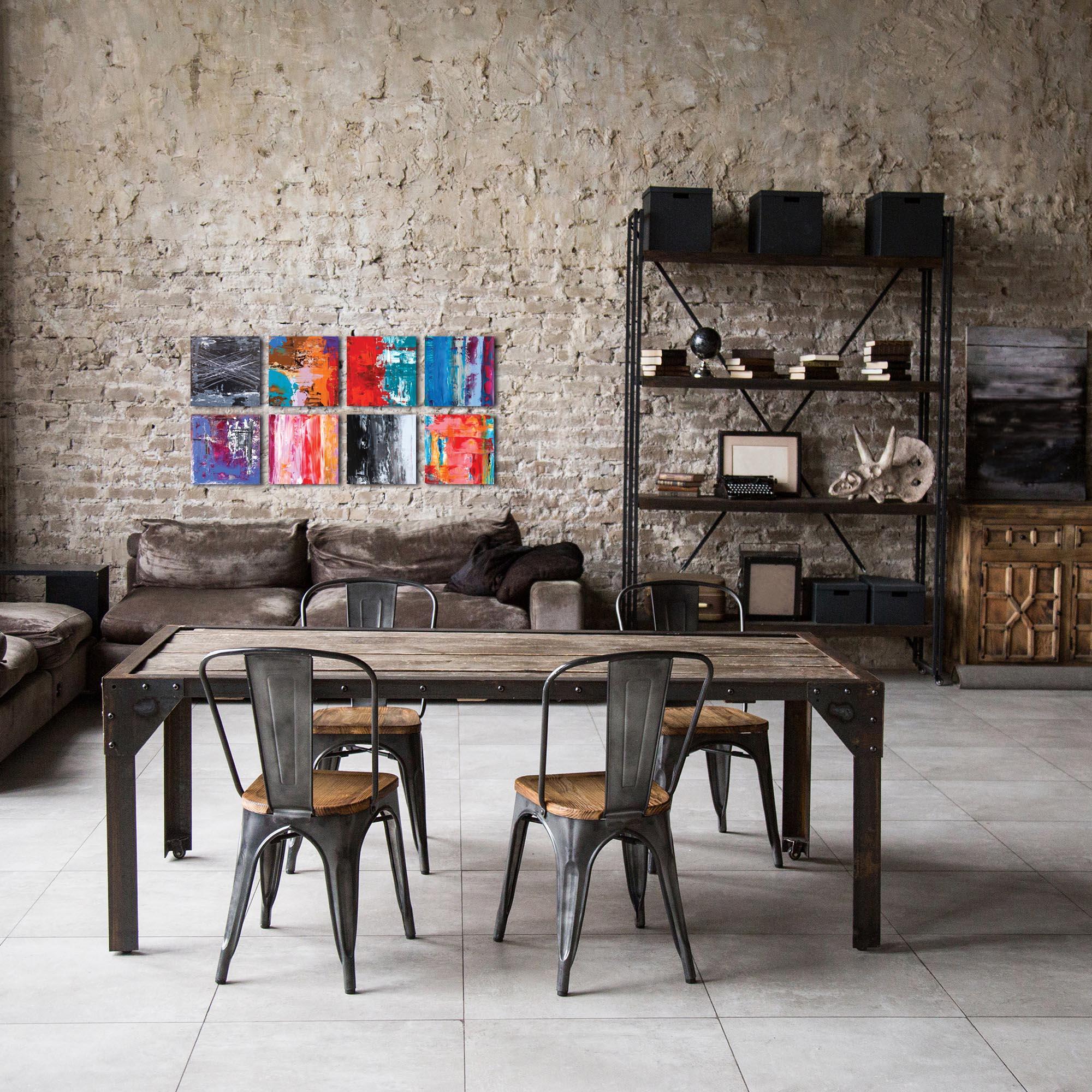 Abstract Wall Art 'Urban Windows' - Urban Decor on Metal or Plexiglass - Lifestyle View