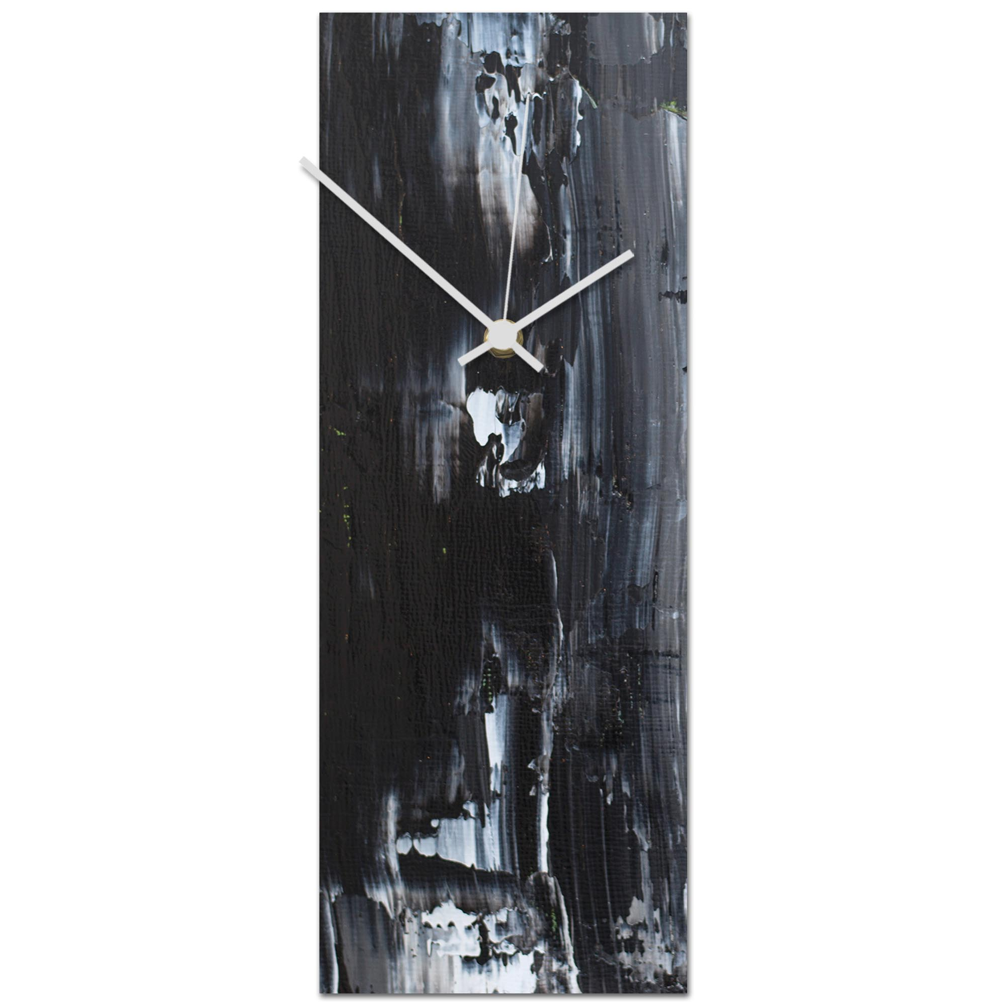 Urban Black Clock 6x16in. Metal