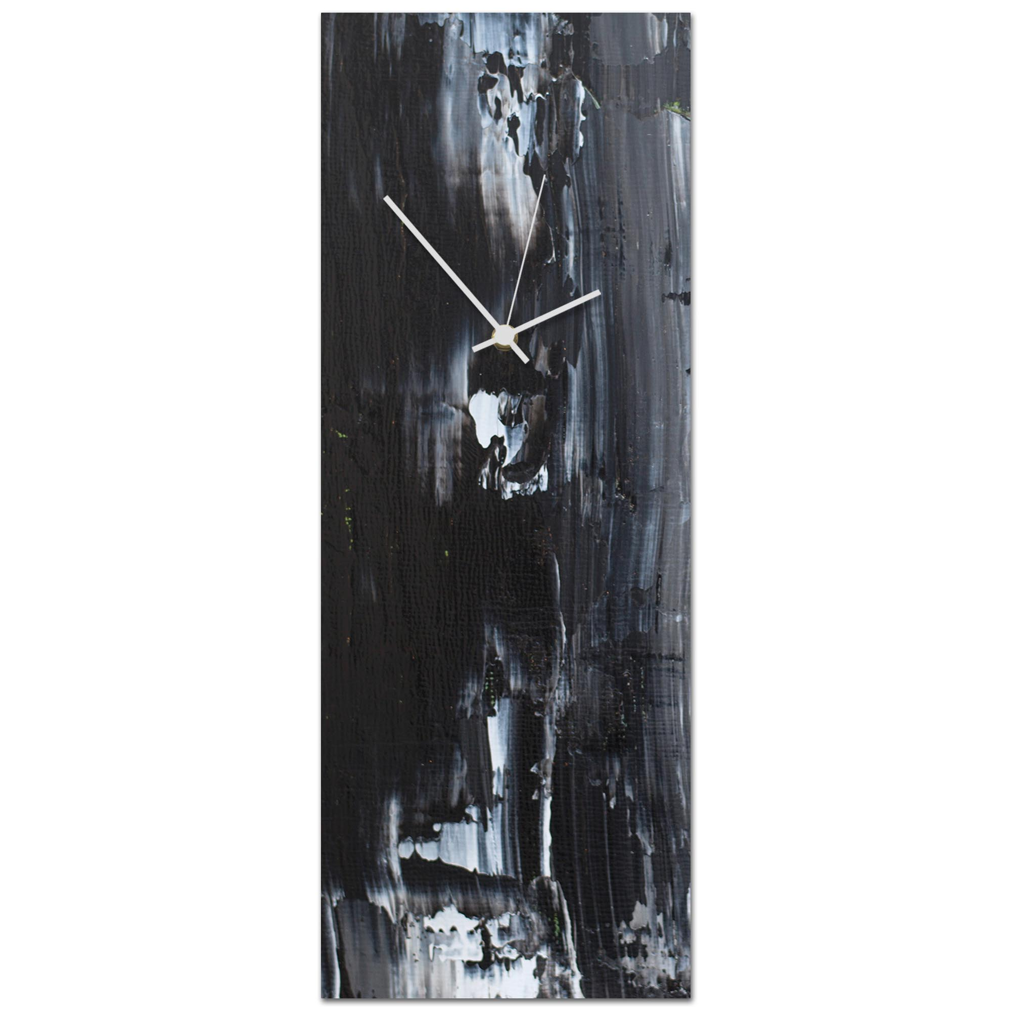 Urban Black Clock Large 9x24in. Metal