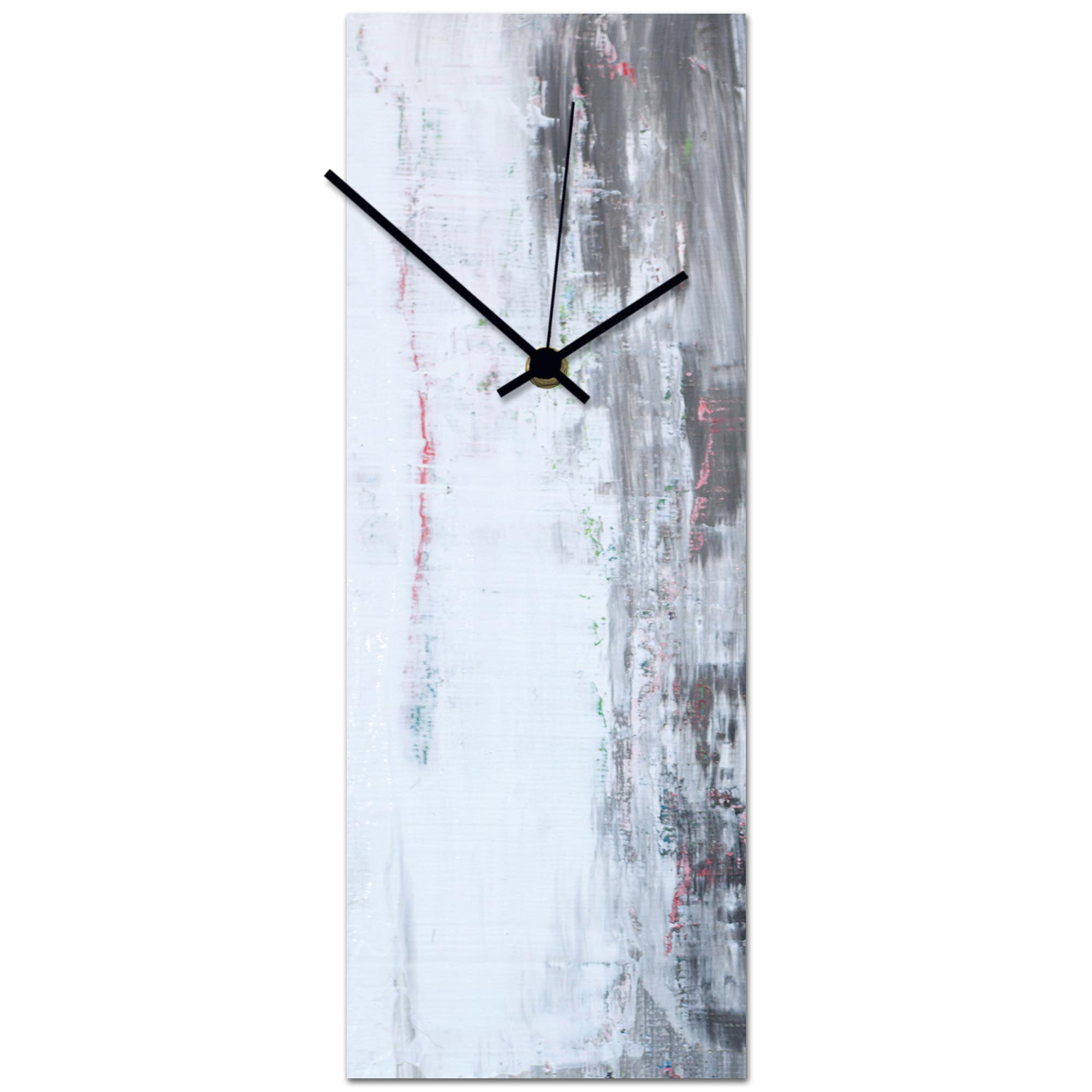 Urban White Clock 6x16in. Metal