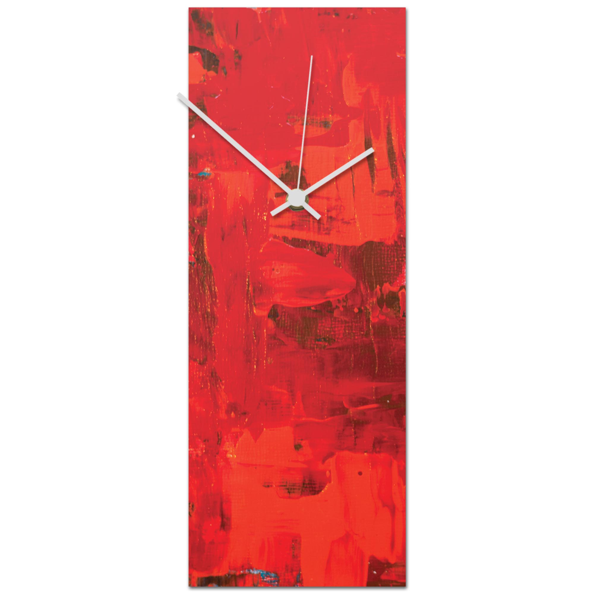 Urban Red Clock 6x16in. Metal