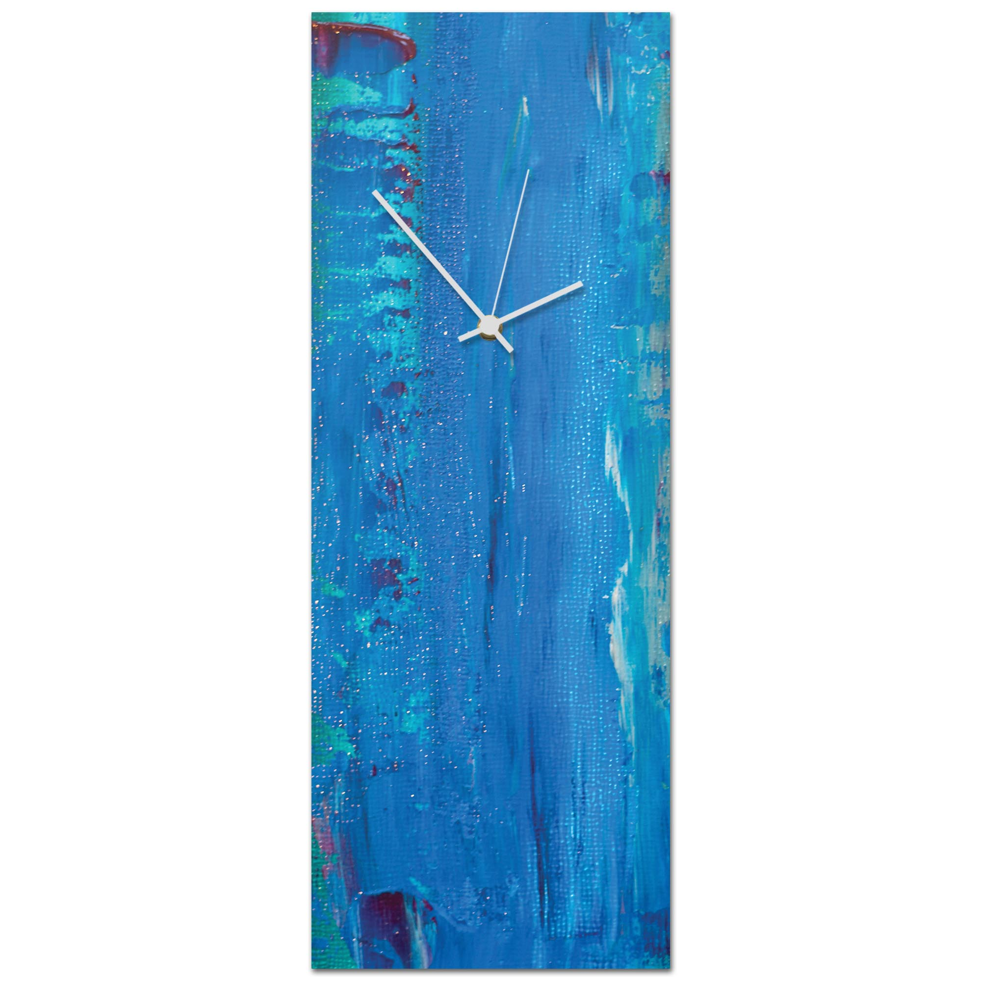 Urban Blue Clock Large 9x24in. Metal