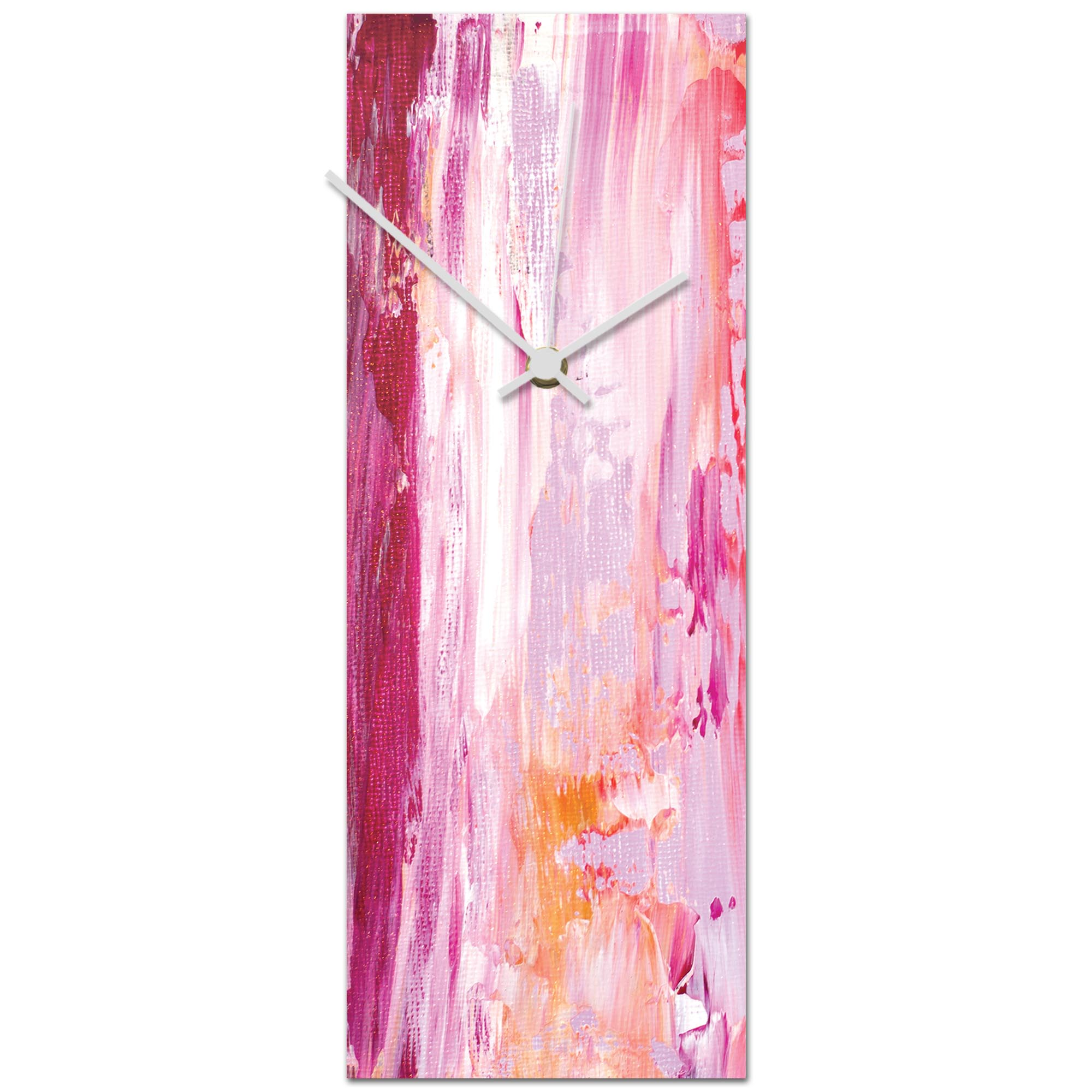 Urban Pink Clock 6x16in. Metal