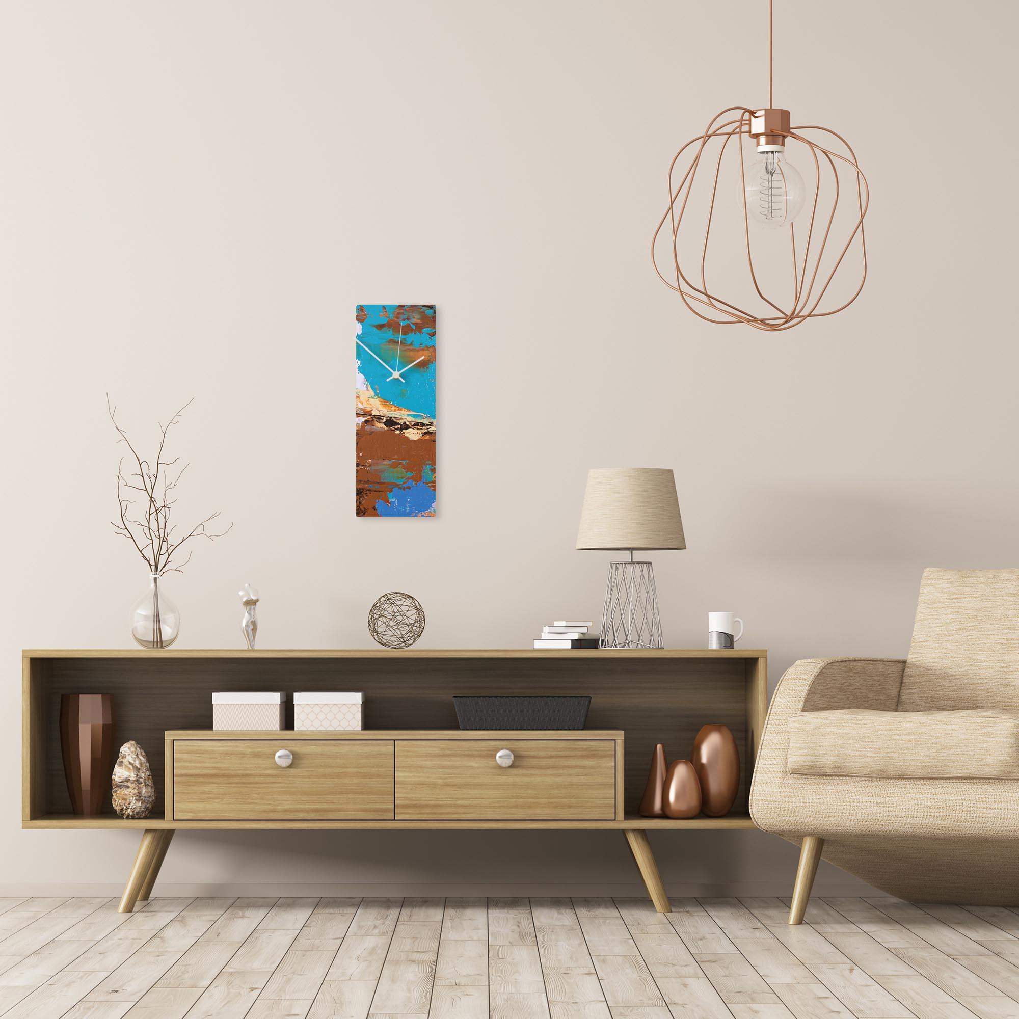 Urban Earth v3 Clock by Elana Reiter Modern Wall Clock on Metal - Alternate View 1