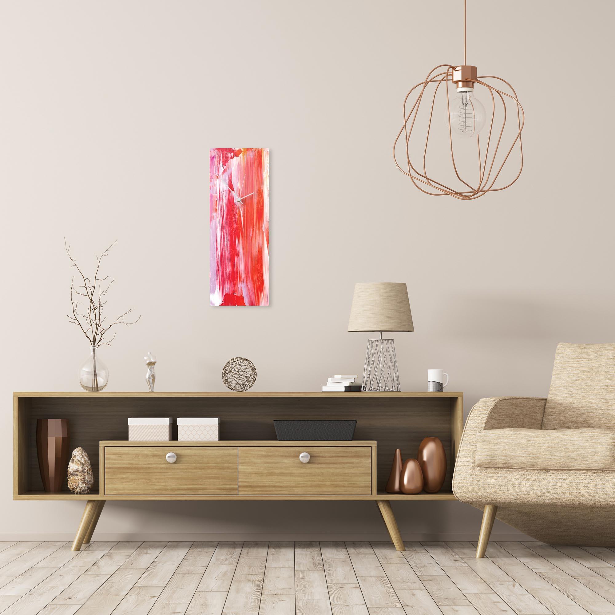 Urban Warmth v4 Clock Large by Celeste Reiter Modern Wall Clock on Metal - Alternate View 1