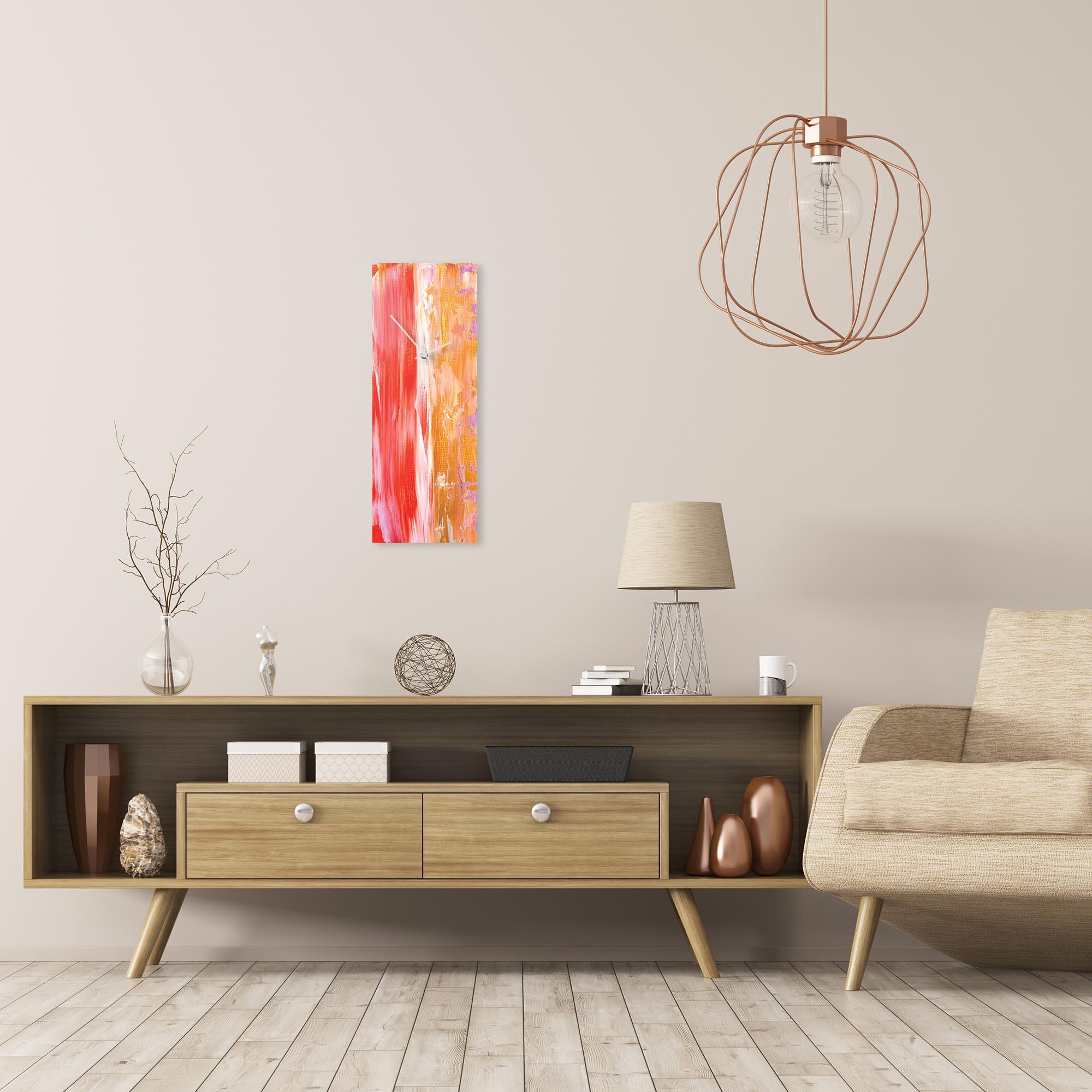 Urban Warmth v5 Clock Large by Celeste Reiter Modern Wall Clock on Metal - Alternate View 1