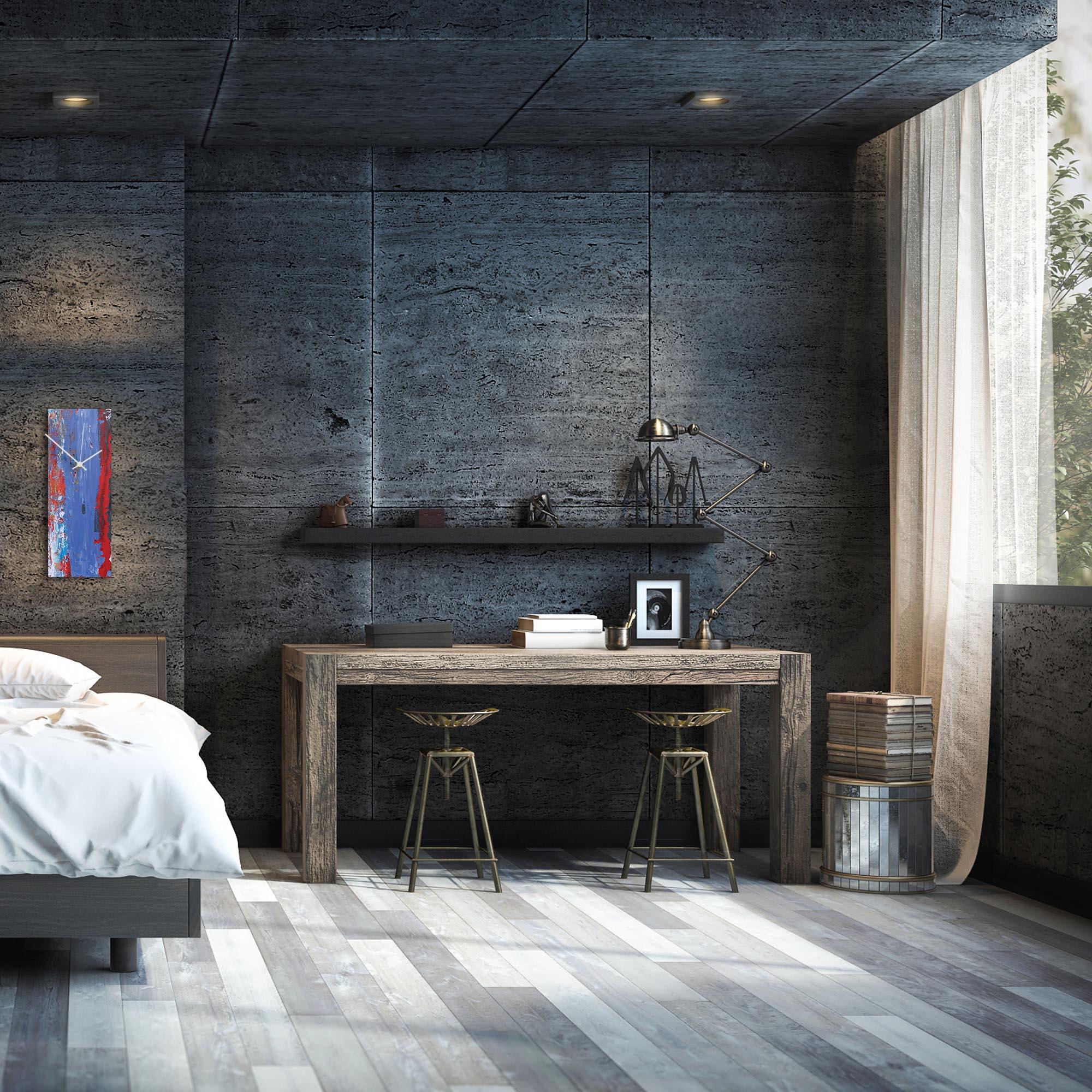 Urban Cool v3 Clock by Elana Reiter Modern Wall Clock on Metal - Alternate View 1