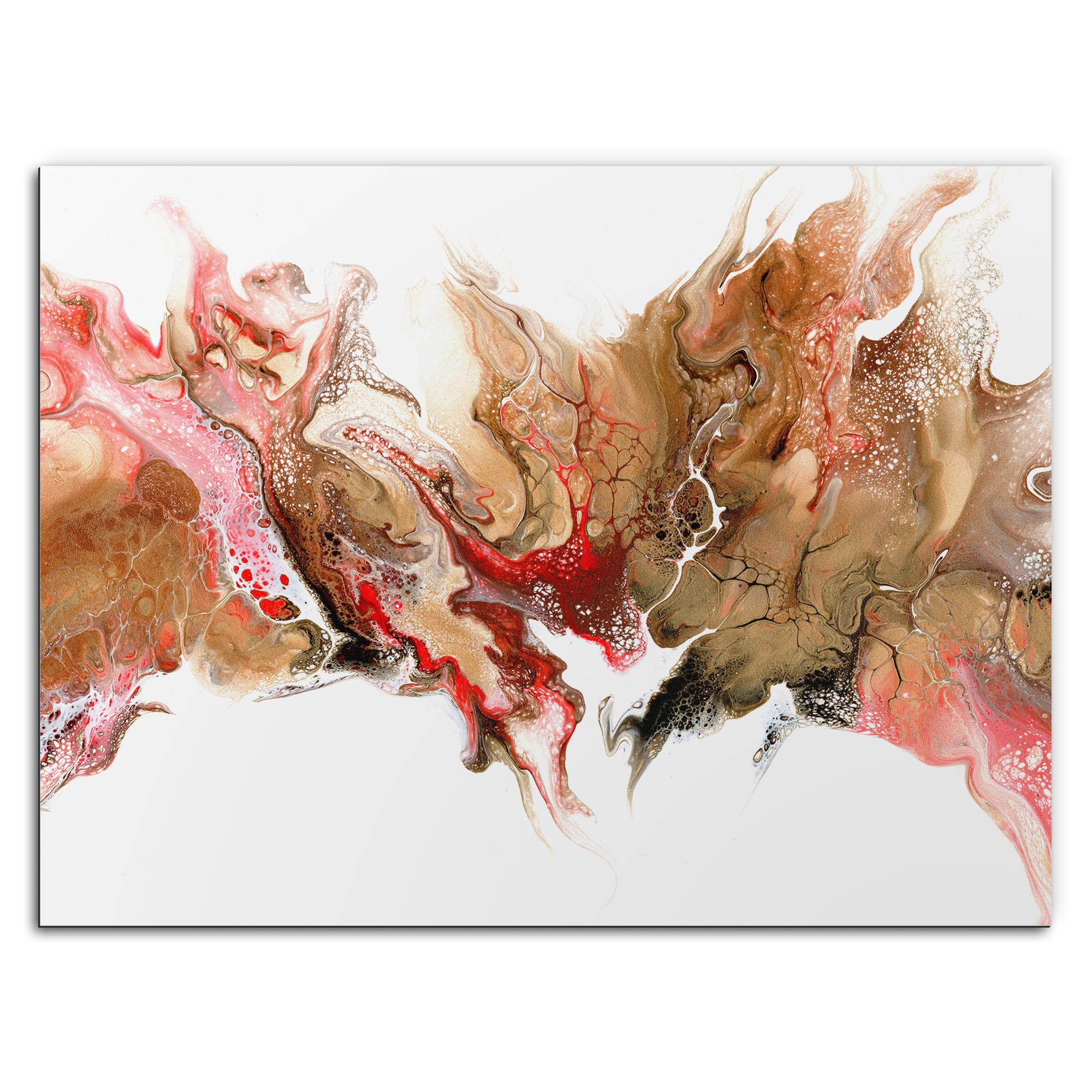 Elana Reiter 'Swelter' 32in x 24in Contemporary Style Abstract Wall Art