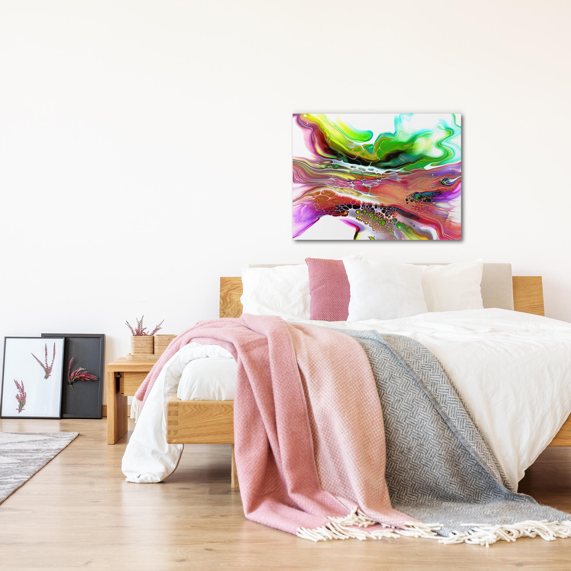 Compression by Elana Reiter - Abstract Wall Art, Modern Home Decor (32in x 24in) - Lifestyle View