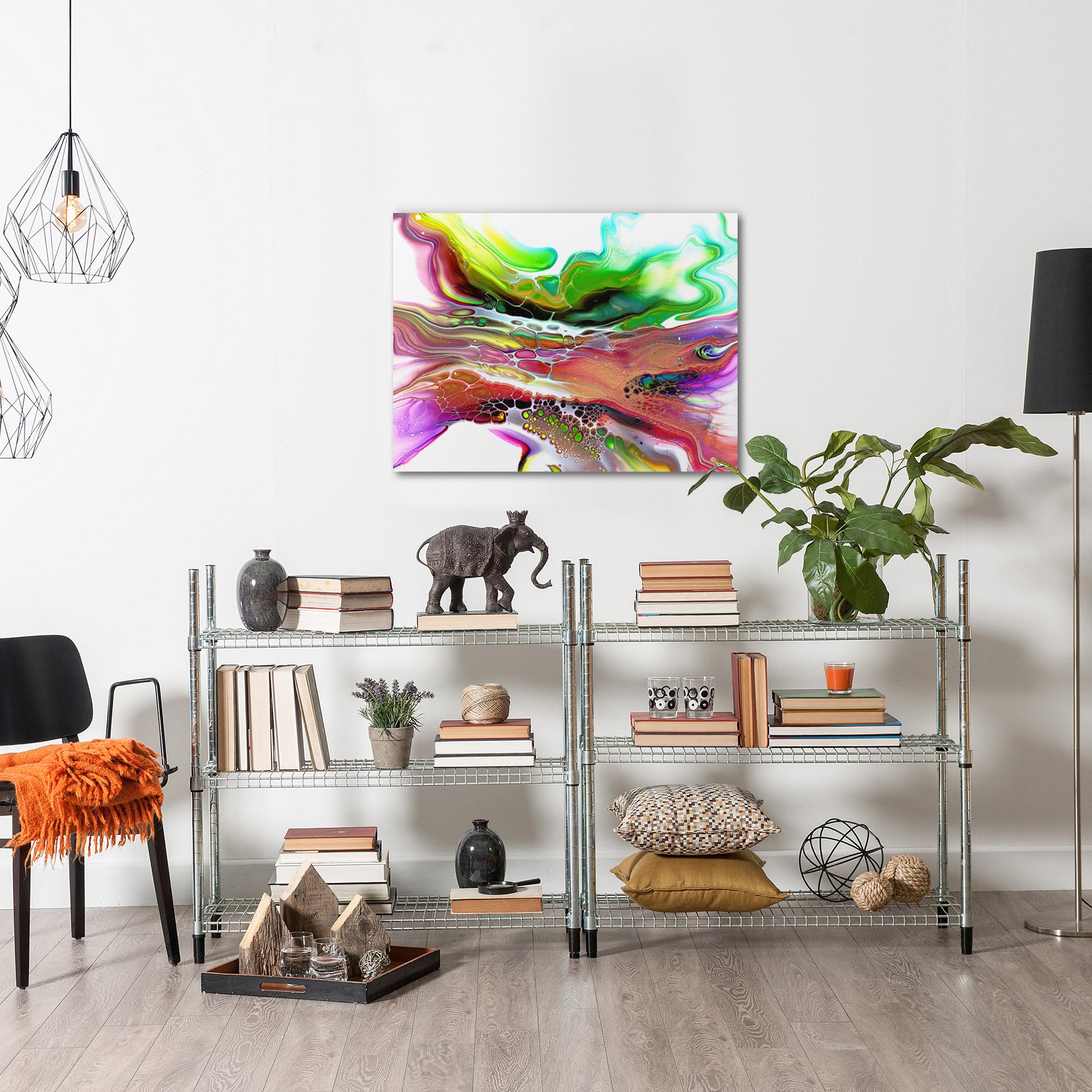 Compression by Elana Reiter - Abstract Wall Art, Modern Home Decor (32in x 24in) - Image 3