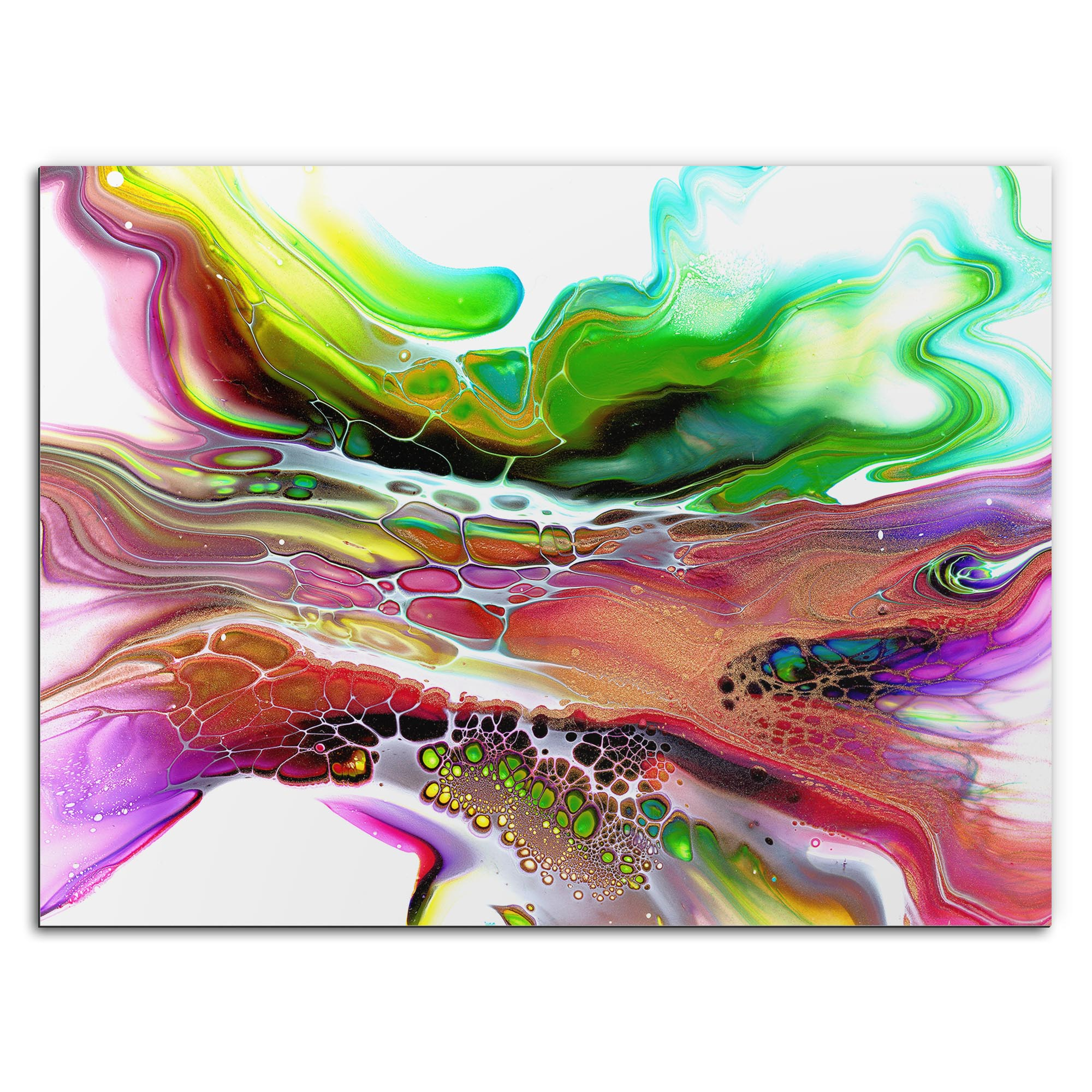 Elana Reiter 'Compression' 32in x 24in Contemporary Style Abstract Wall Art
