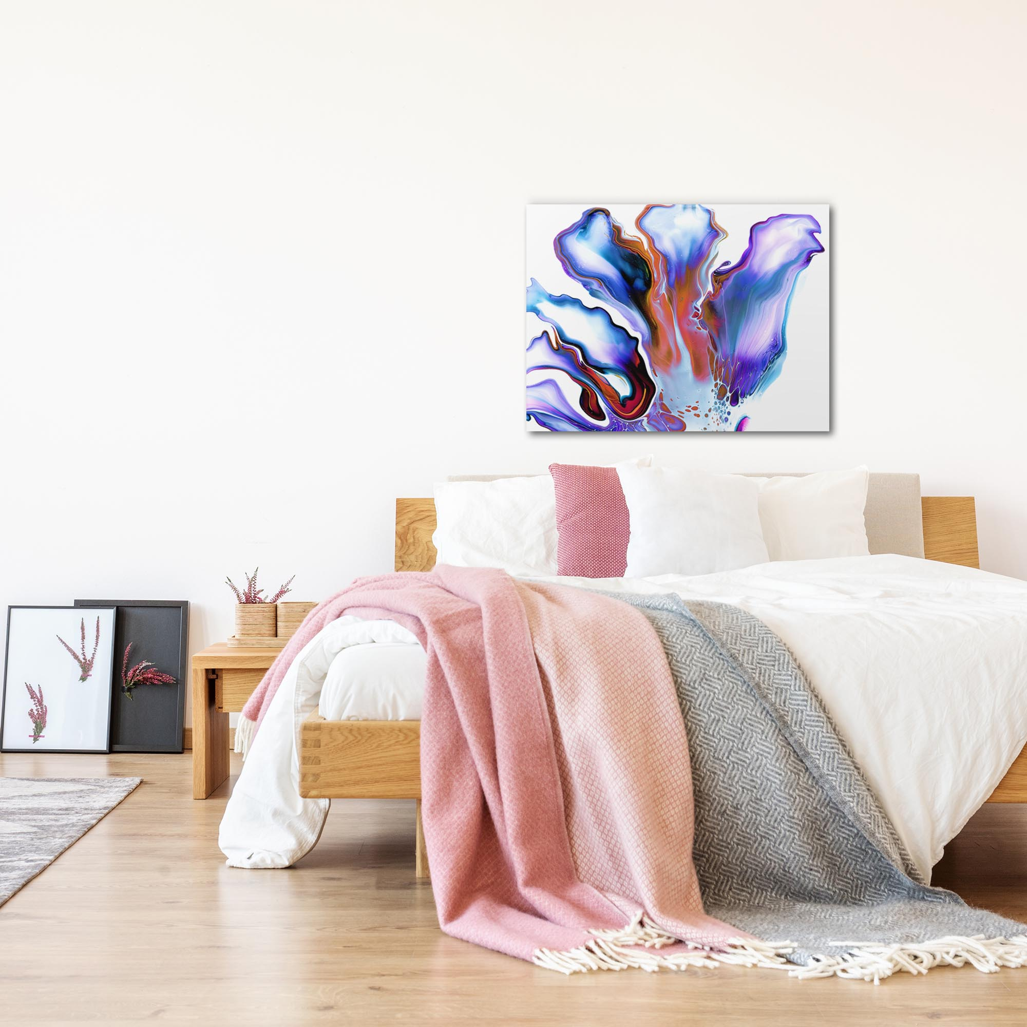 Blossom by Elana Reiter - Abstract Wall Art, Modern Home Decor (32in x 24in) - Lifestyle View