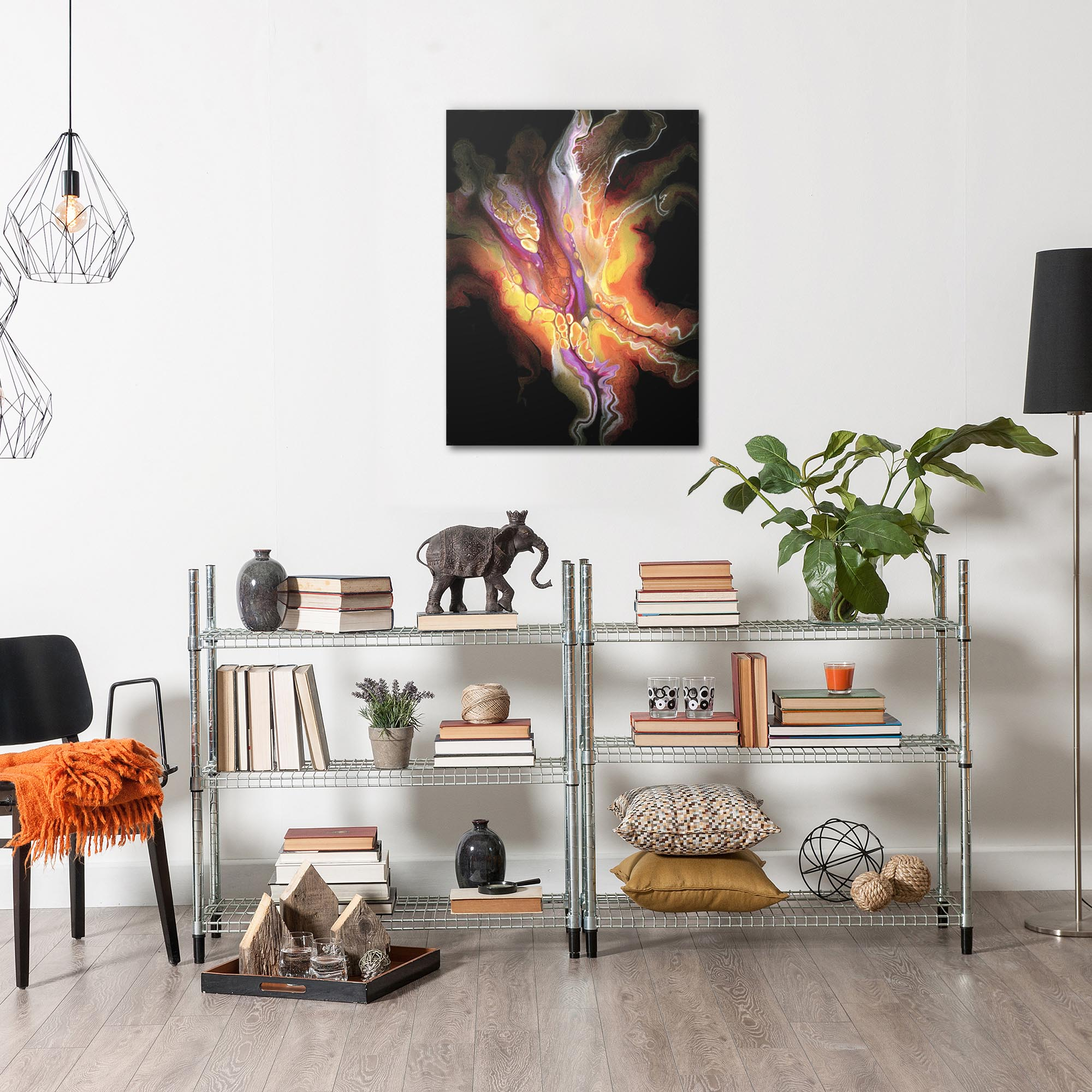 Creation by Elana Reiter - Abstract Wall Art, Modern Home Decor (24in x 32in) - Image 3