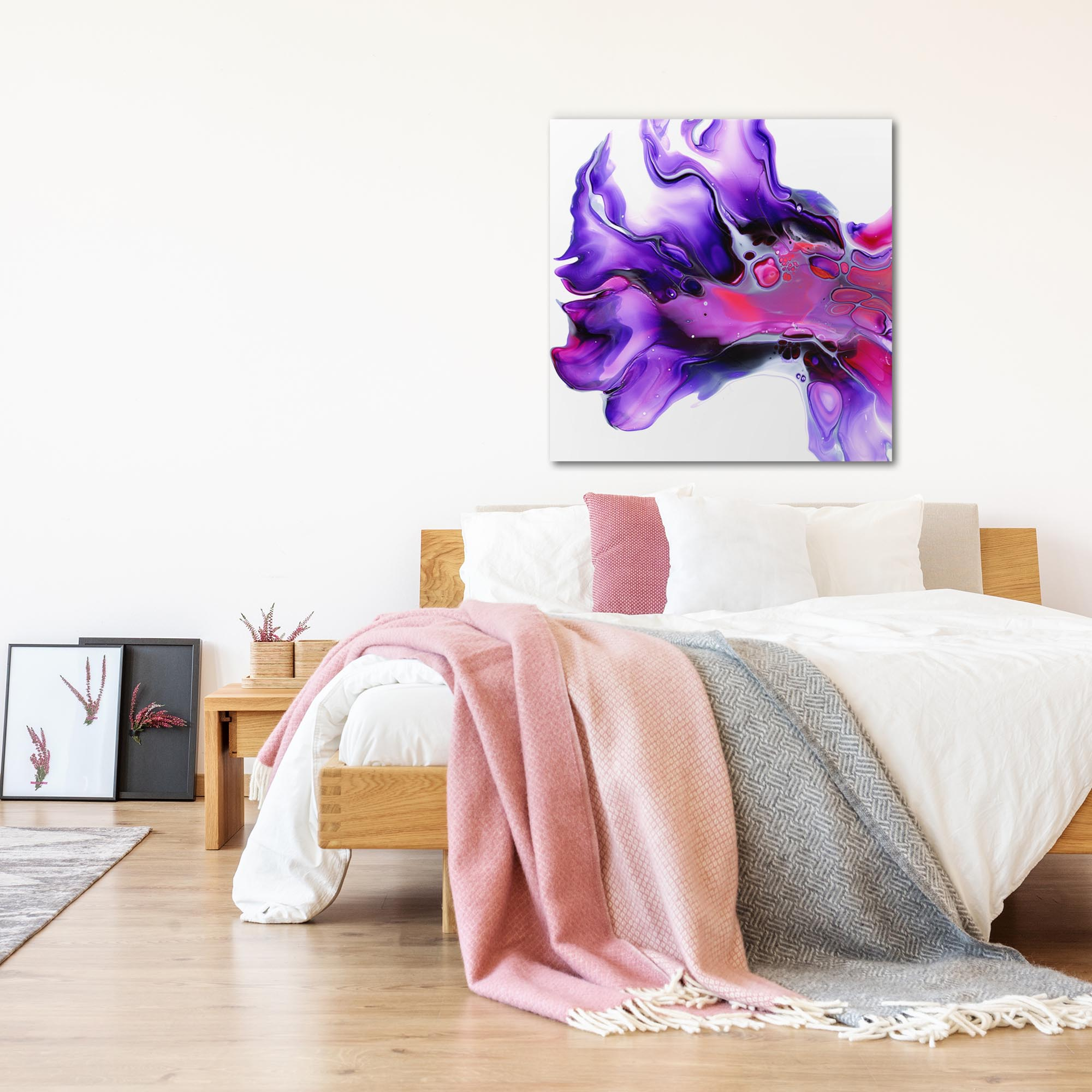 Posy by Elana Reiter - Abstract Wall Art, Modern Home Decor (36in x 36in) - Lifestyle View