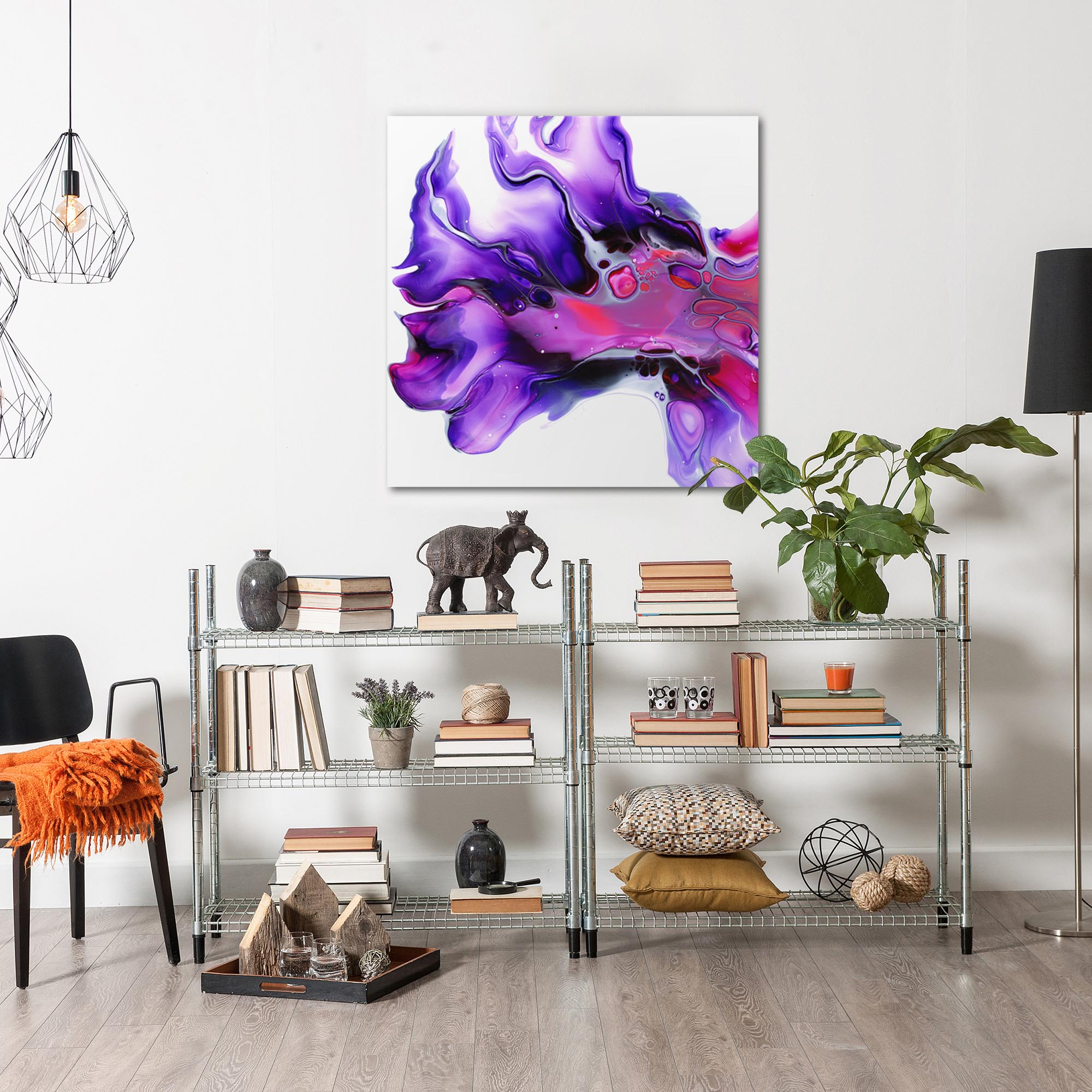 Posy by Elana Reiter - Abstract Wall Art, Modern Home Decor (36in x 36in) - Image 3