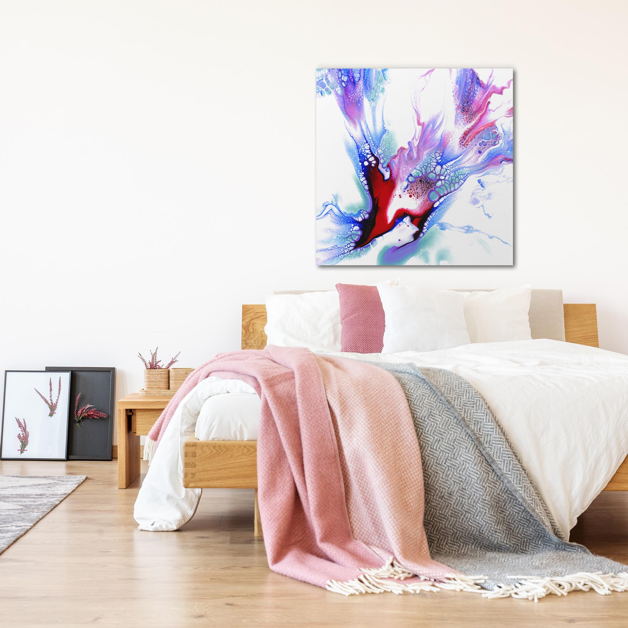 Concealed by Elana Reiter - Abstract Wall Art, Modern Home Decor (36in x 36in) - Lifestyle View