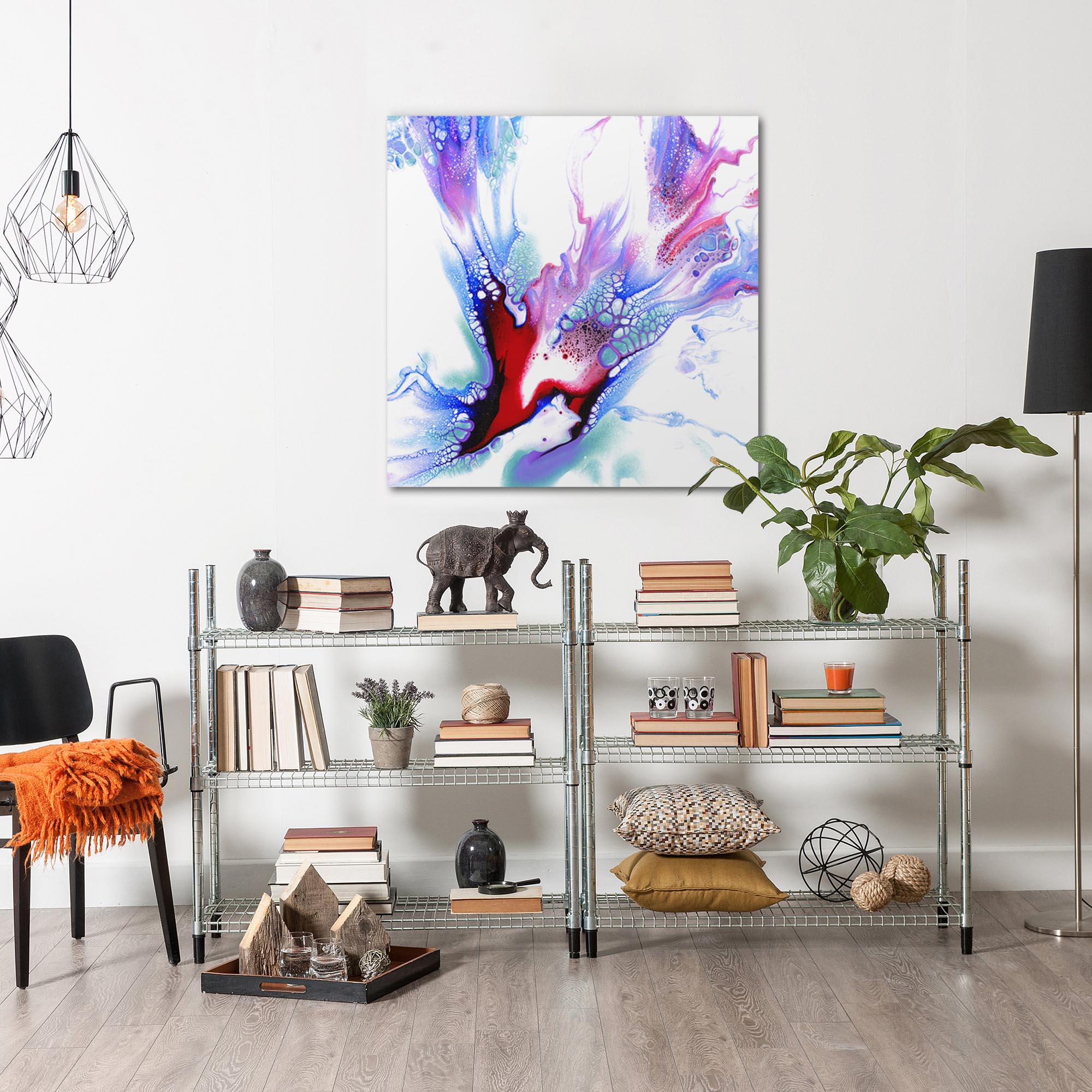 Concealed by Elana Reiter - Abstract Wall Art, Modern Home Decor (36in x 36in) - Image 3