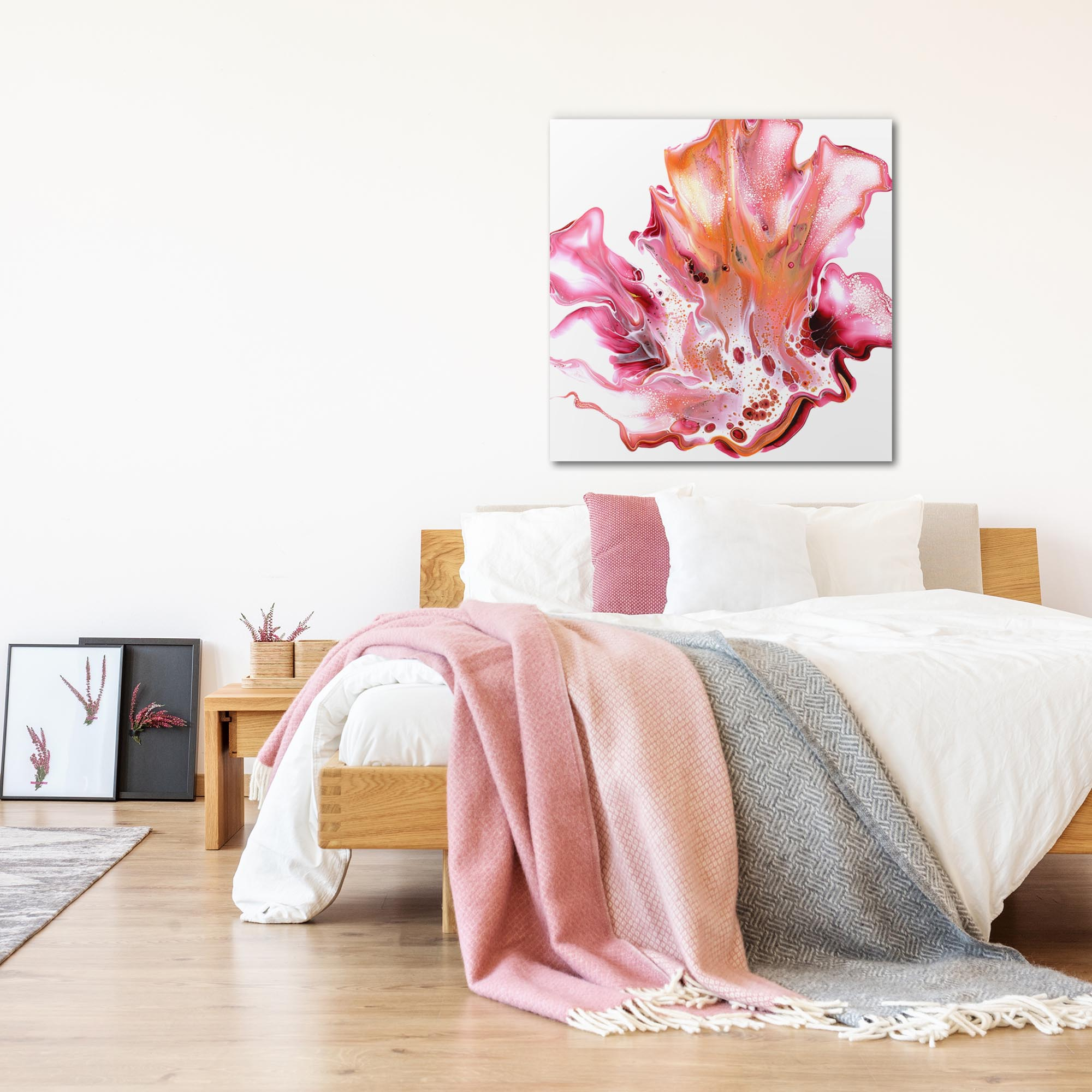 Floral by Elana Reiter - Abstract Wall Art, Modern Home Decor (36in x 36in) - Lifestyle View