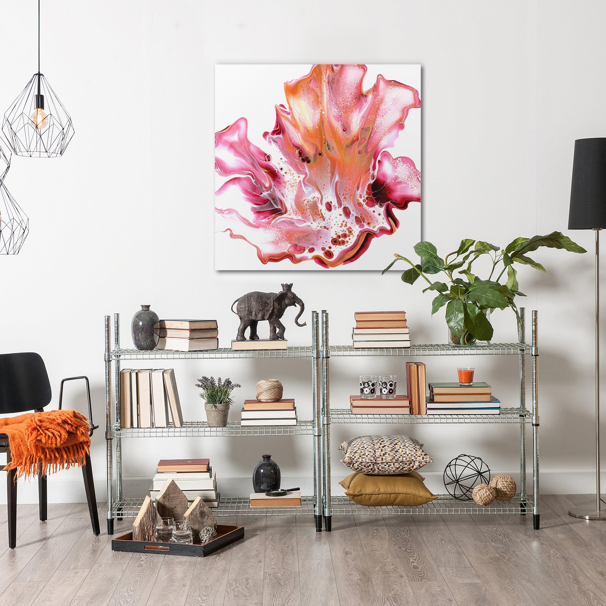 Floral by Elana Reiter - Abstract Wall Art, Modern Home Decor (36in x 36in) - Image 3