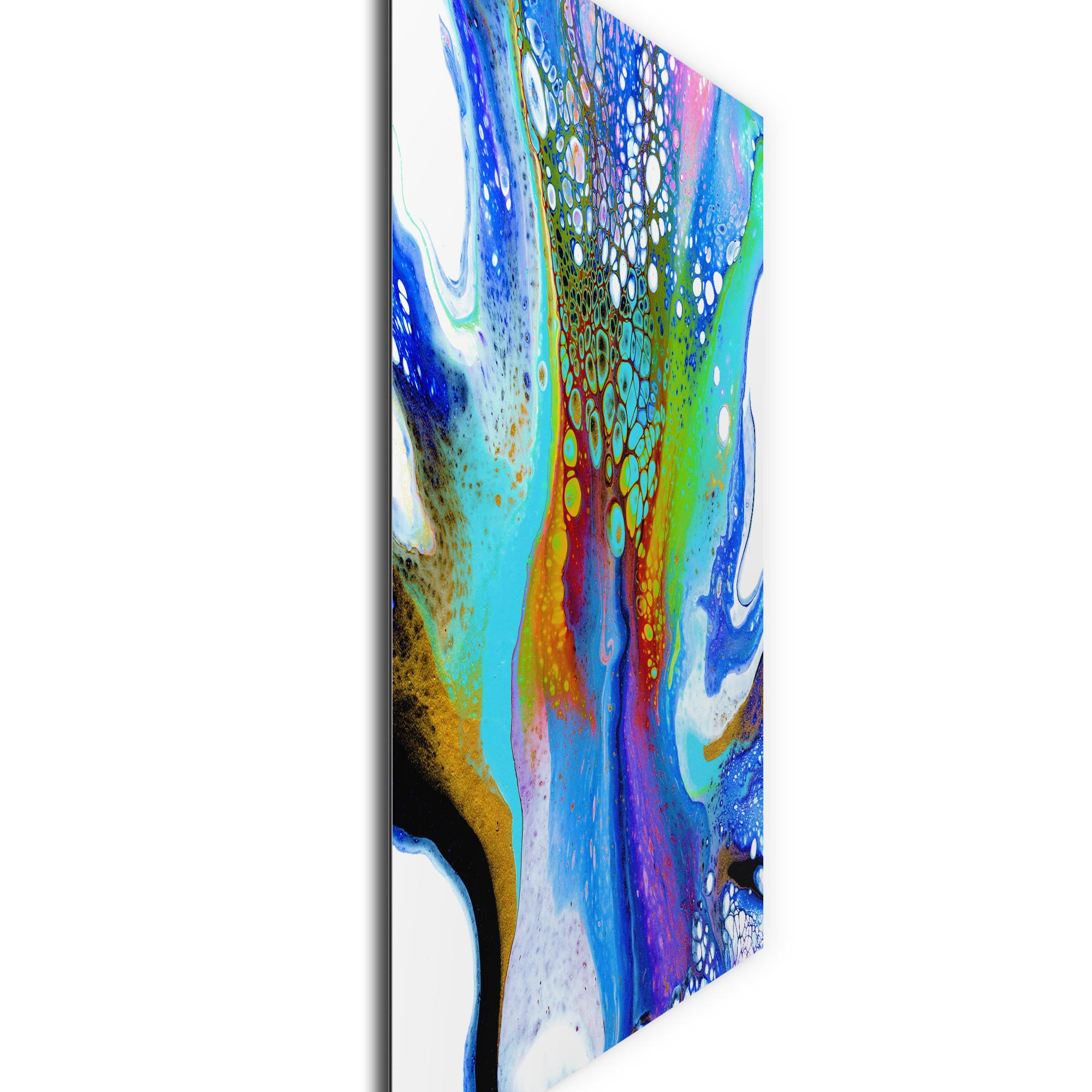 Peacock by Elana Reiter - Abstract Wall Art, Modern Home Decor (36in x 36in) - Image 2