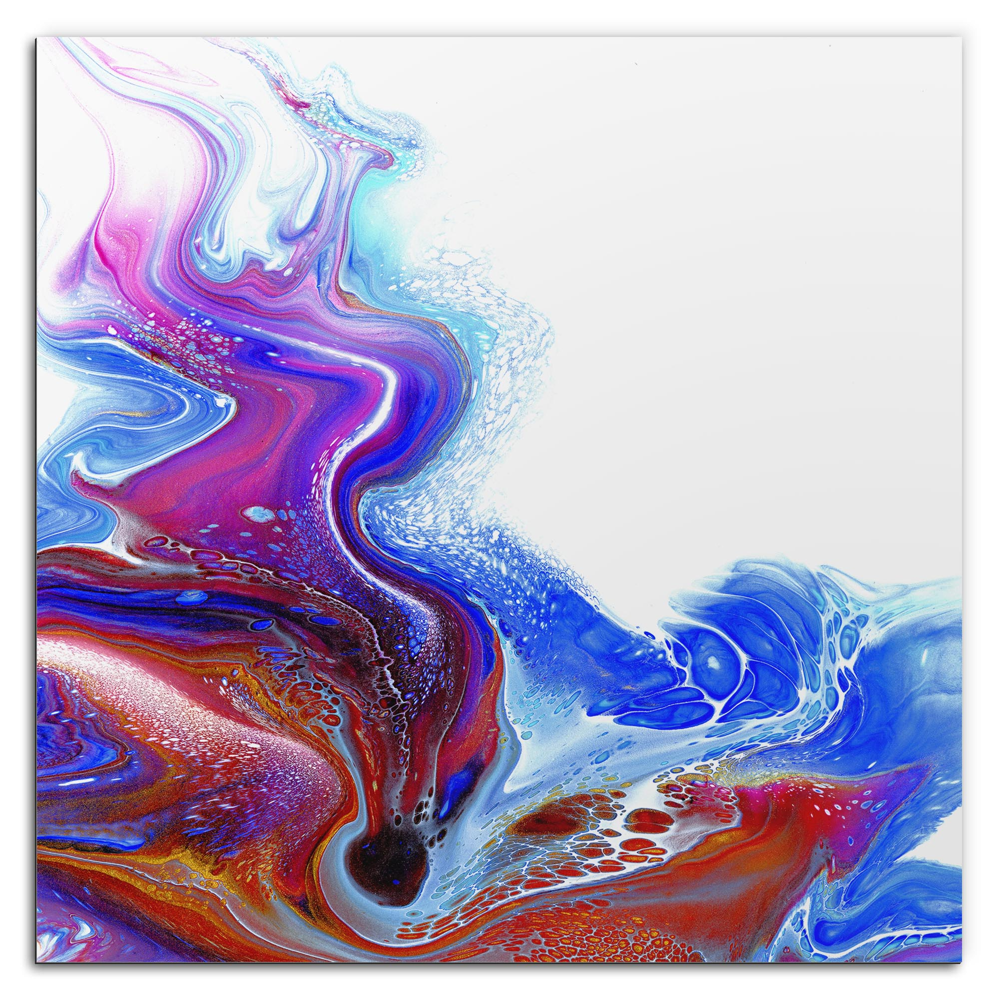 Elana Reiter 'Drained' 36in x 36in Contemporary Style Abstract Wall Art