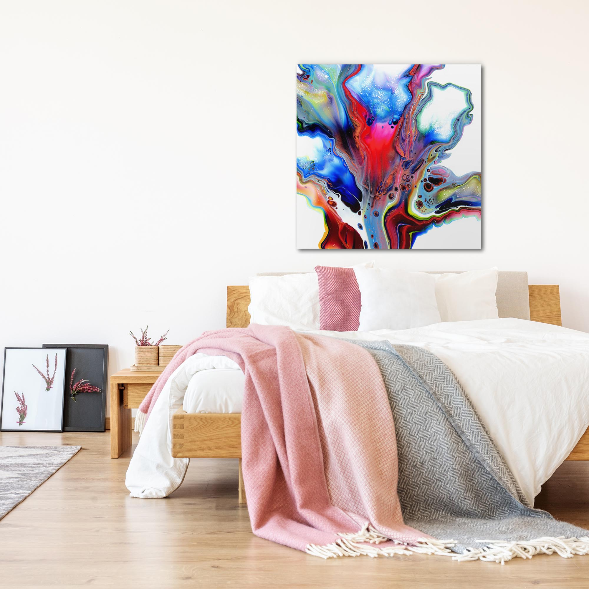 Emerging by Elana Reiter - Abstract Wall Art, Modern Home Decor (36in x 36in) - Lifestyle View