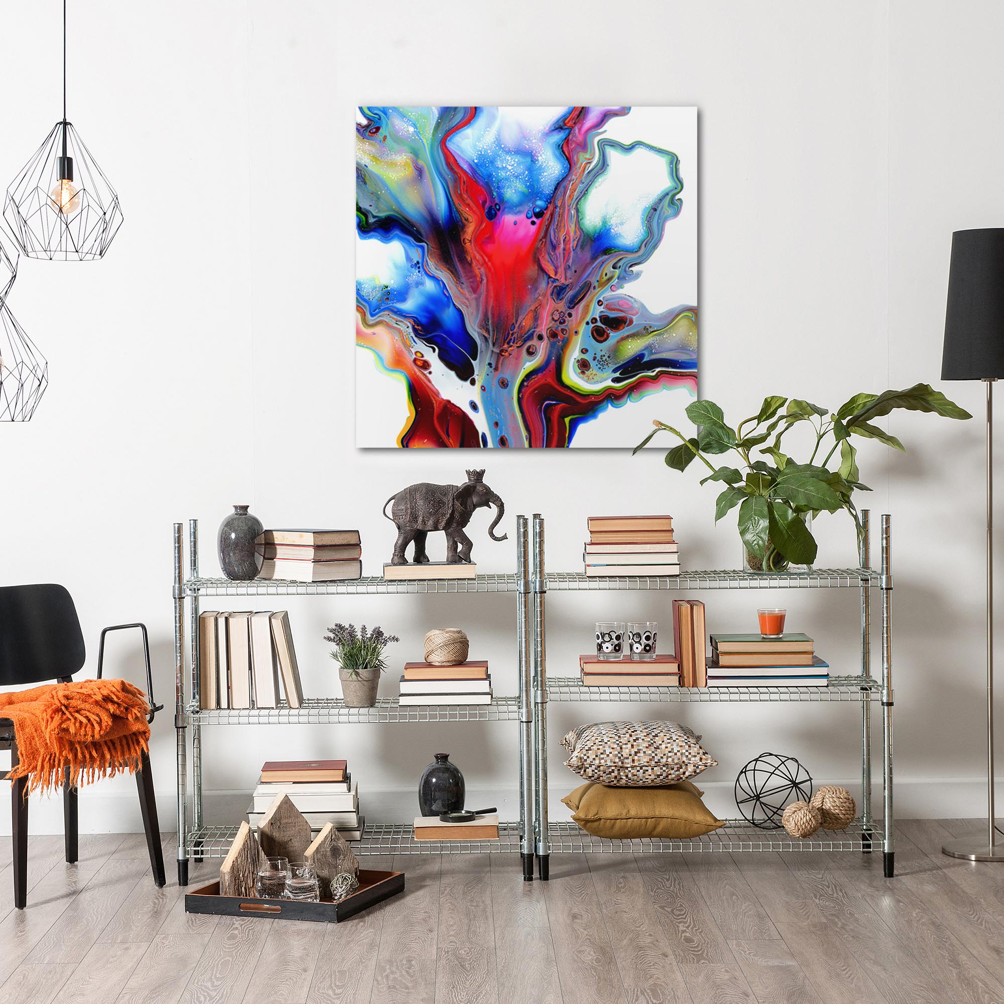 Emerging by Elana Reiter - Abstract Wall Art, Modern Home Decor (36in x 36in) - Image 3
