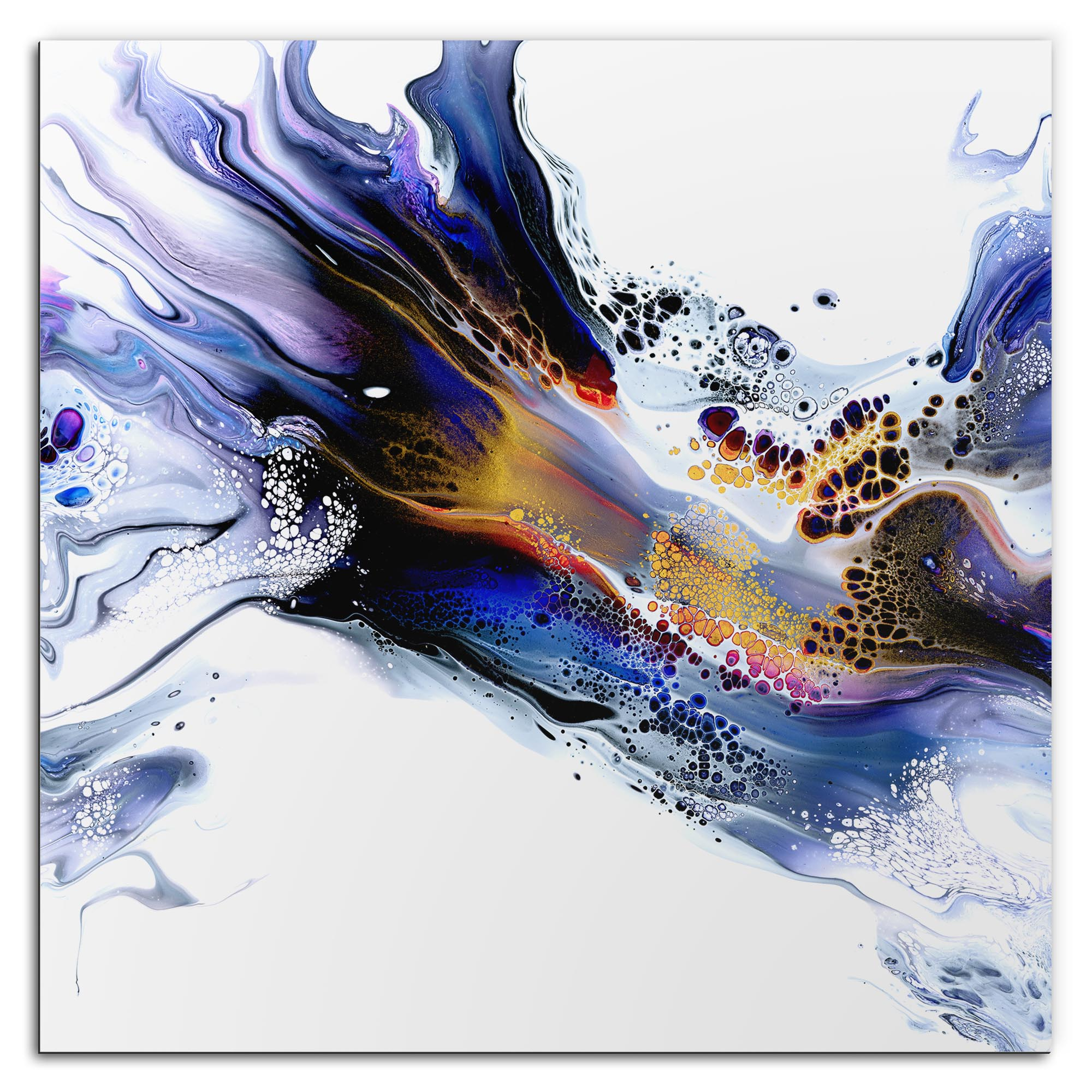 Elana Reiter 'Congealed' 36in x 36in Contemporary Style Abstract Wall Art