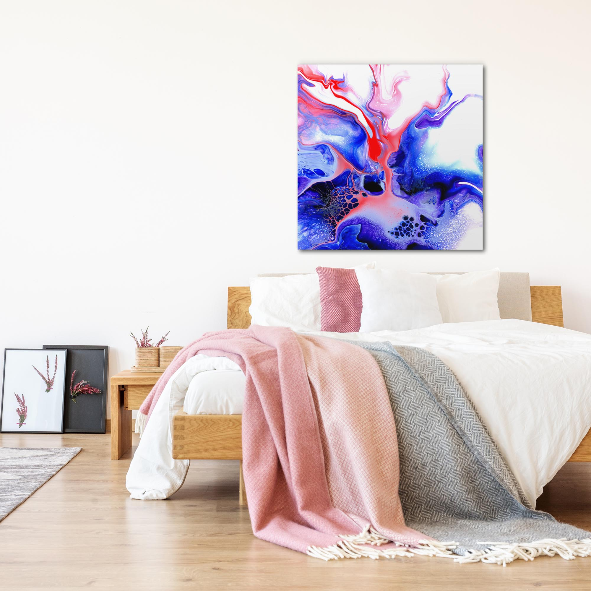 Thermal by Elana Reiter - Abstract Wall Art, Modern Home Decor (36in x 36in) - Lifestyle View