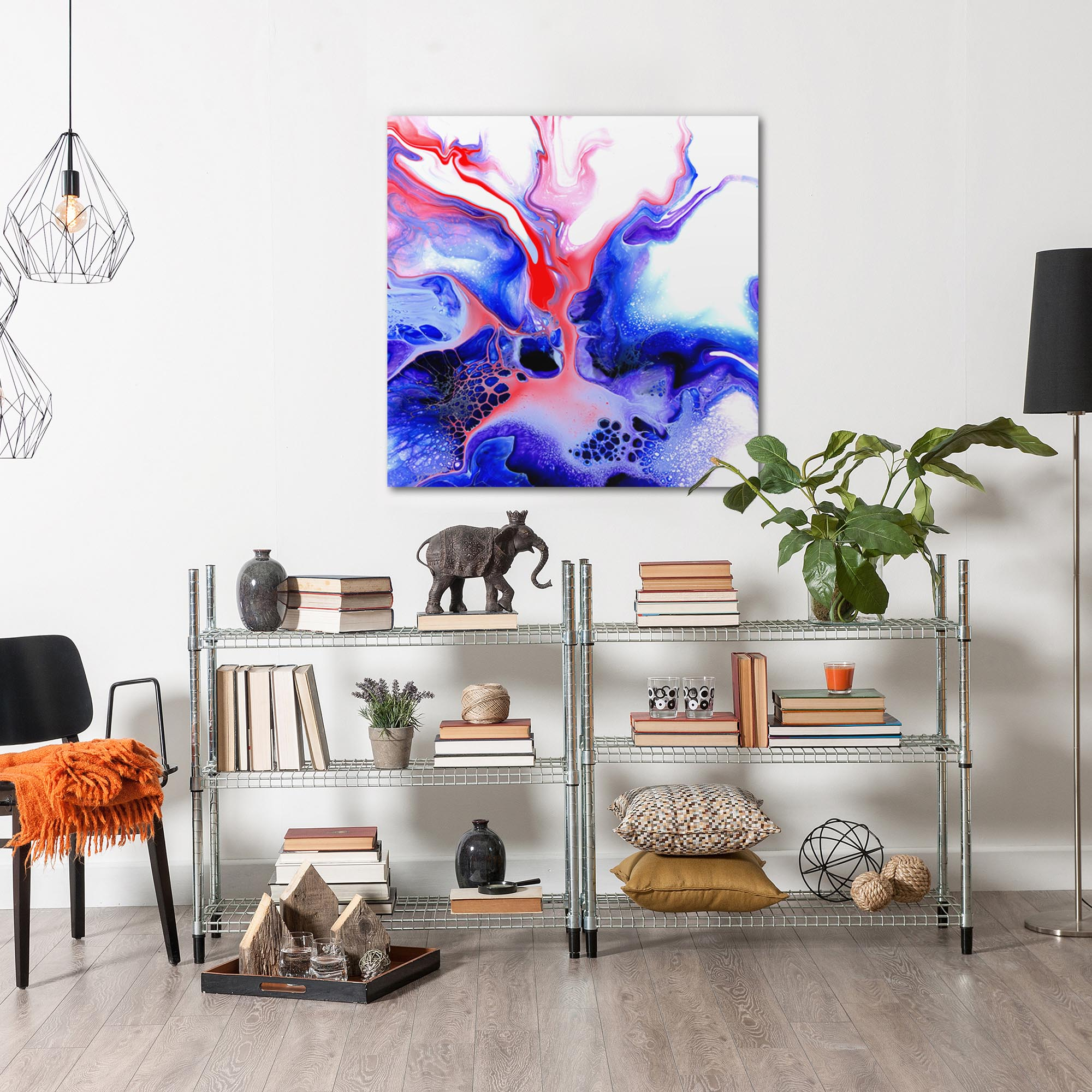 Thermal by Elana Reiter - Abstract Wall Art, Modern Home Decor (36in x 36in) - Image 3