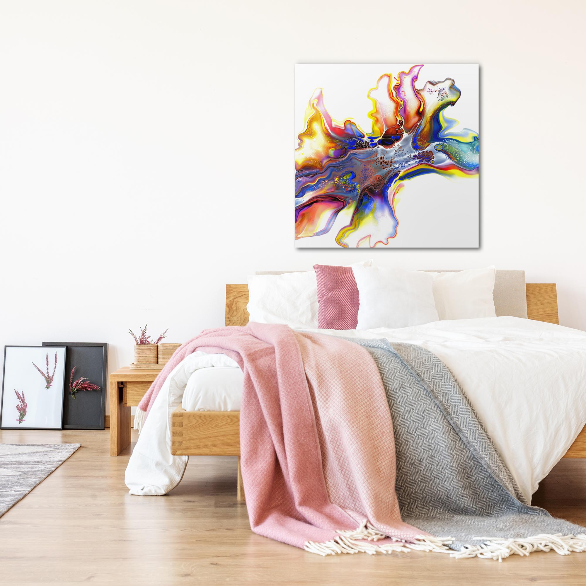 Medley by Elana Reiter - Abstract Wall Art, Modern Home Decor (36in x 36in) - Lifestyle View