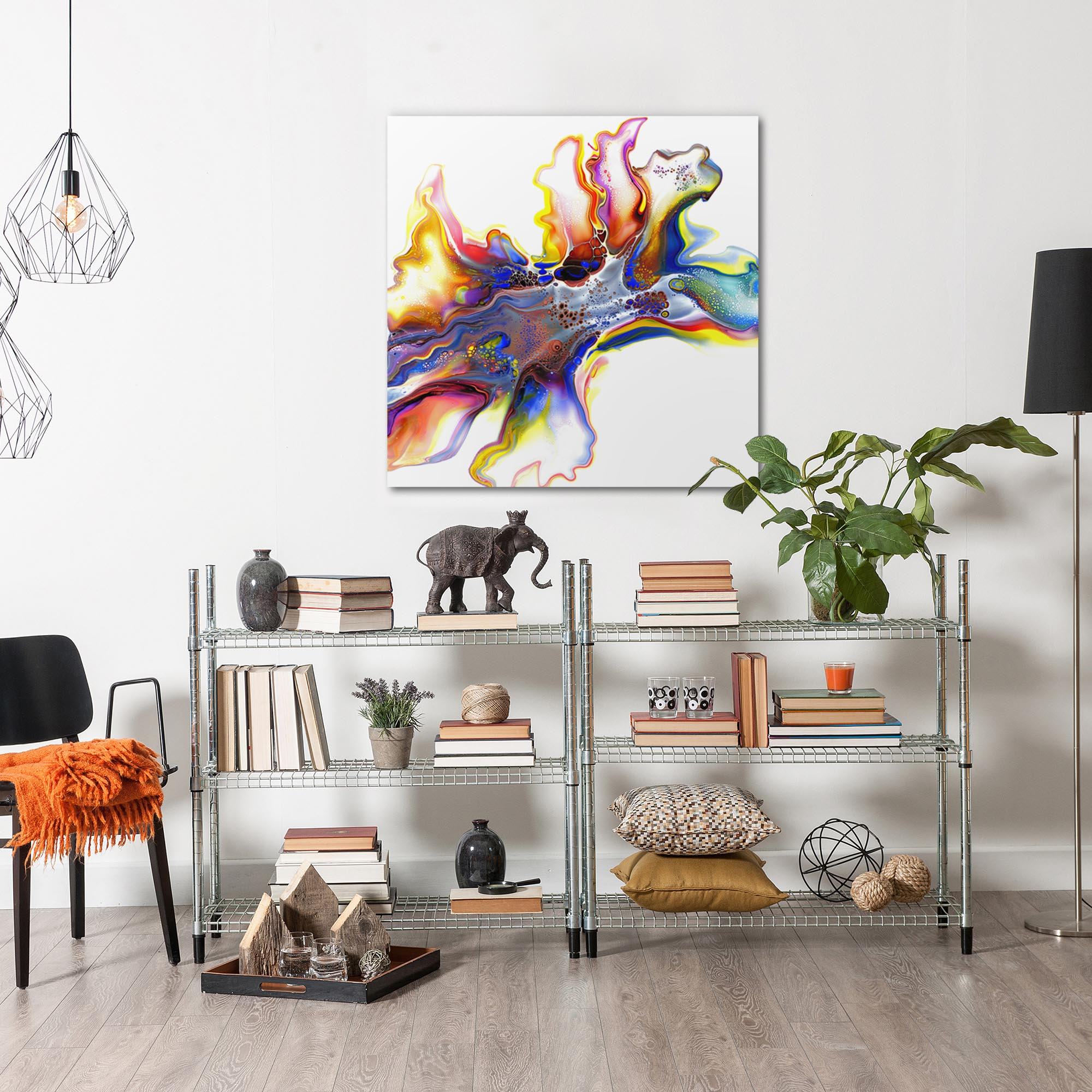 Medley by Elana Reiter - Abstract Wall Art, Modern Home Decor (36in x 36in) - Image 3