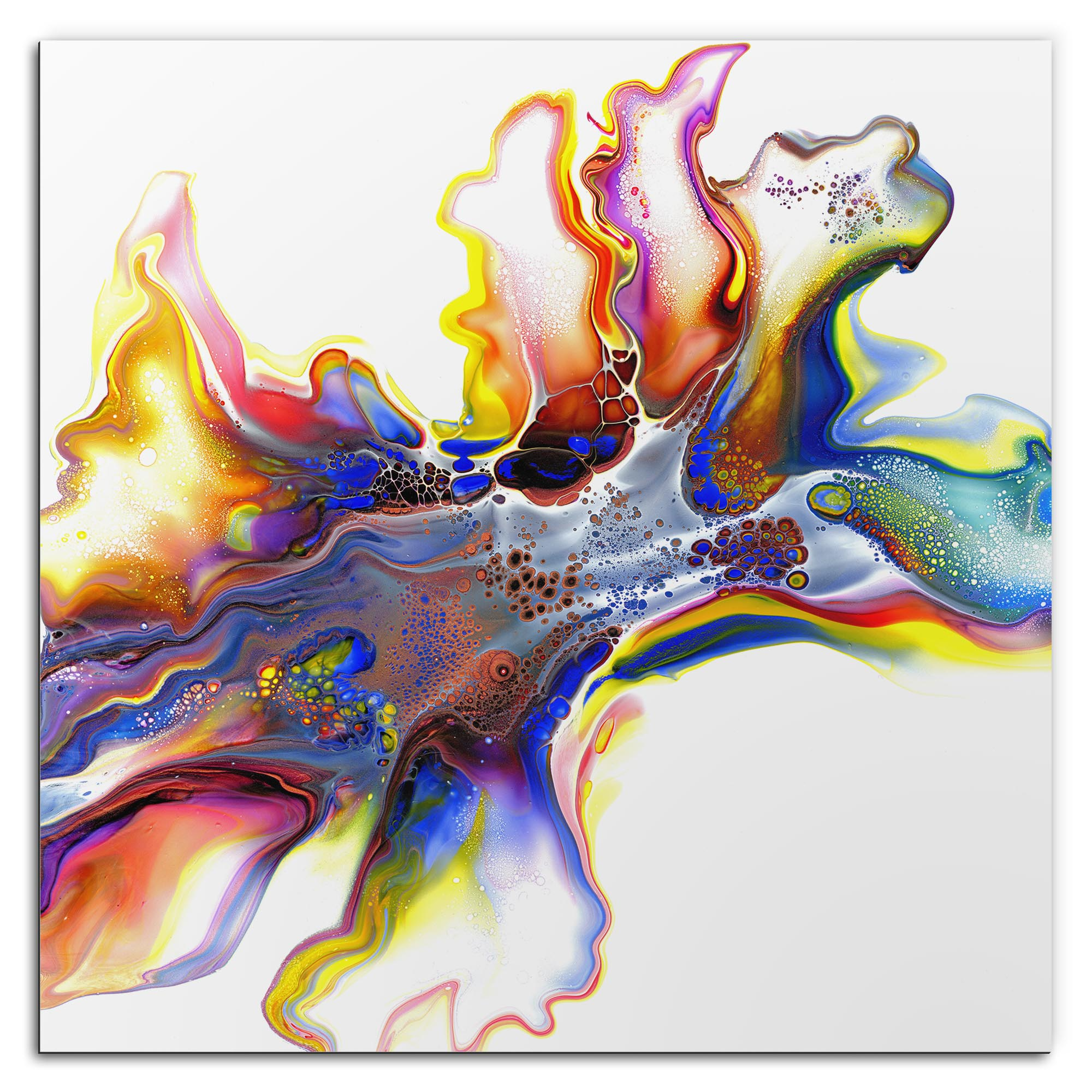 Elana Reiter 'Medley' 36in x 36in Contemporary Style Abstract Wall Art