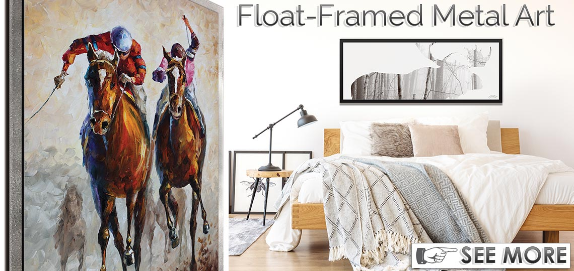 Float-Framed Contemporary Metal Wall Art