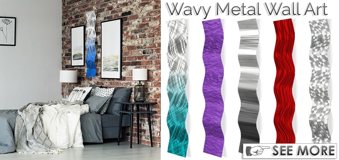 Wavy Metal Contemporary Wall Sculptures