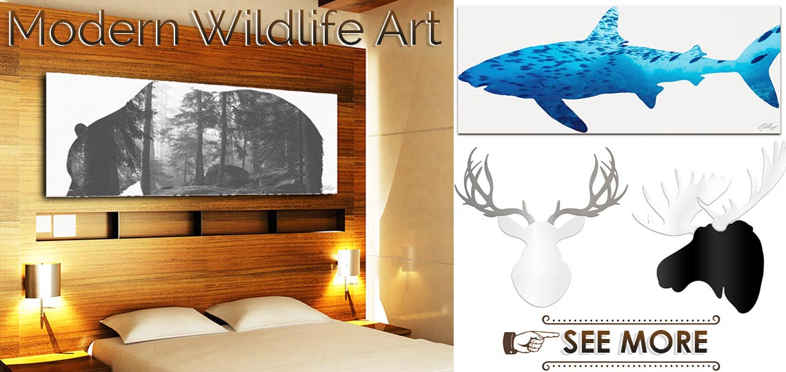Modern Animal Art | Contemporary Style Wildlife Wall Decor