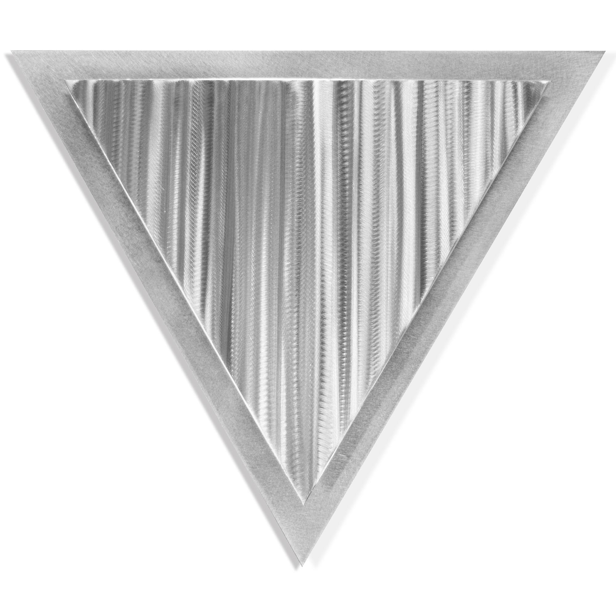 Helena Martin 'Linear Angle' 15in x 13in Modern Metal Art on Ground Metal