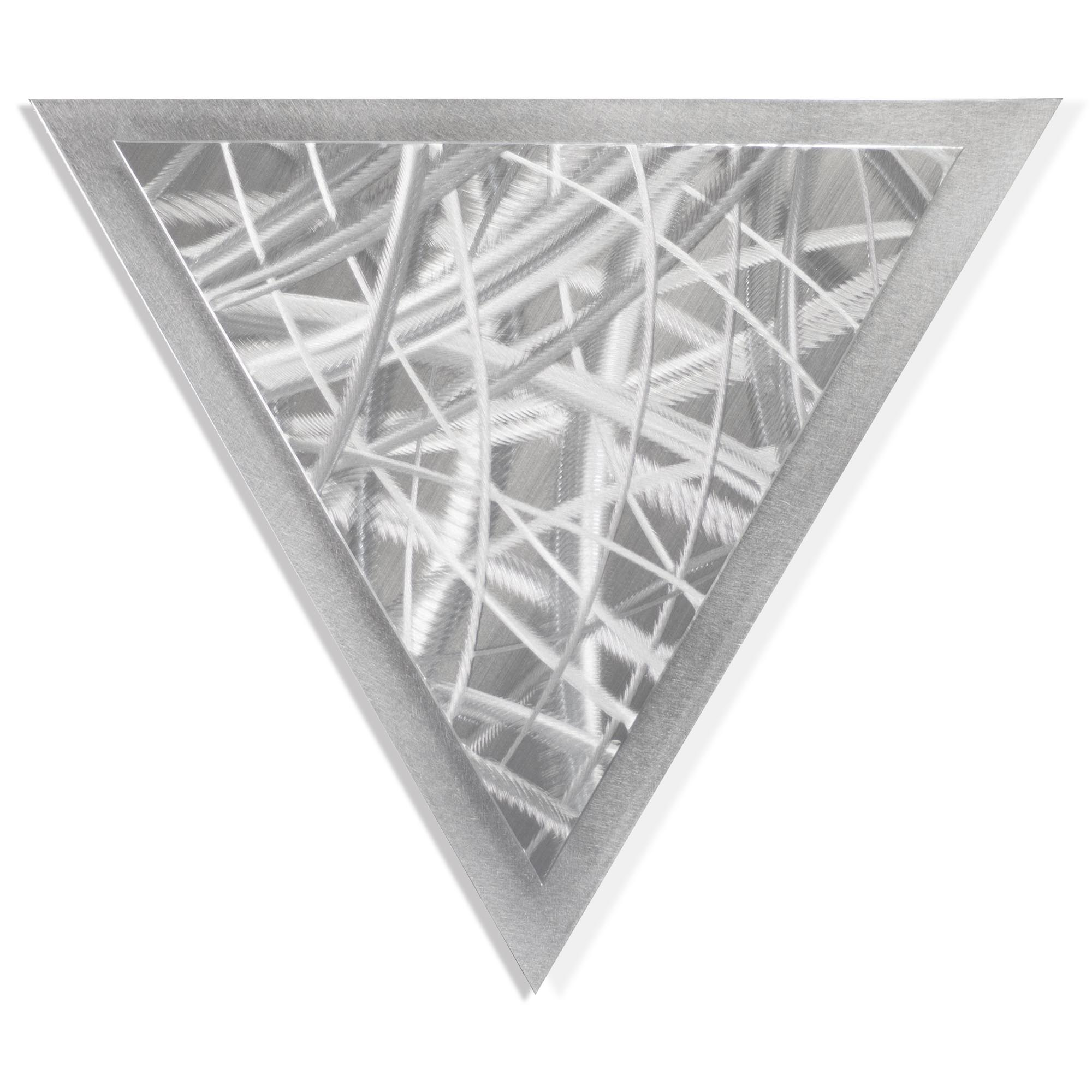 Helena Martin 'Thatched Angle' 15in x 13in Modern Metal Art on Ground Metal