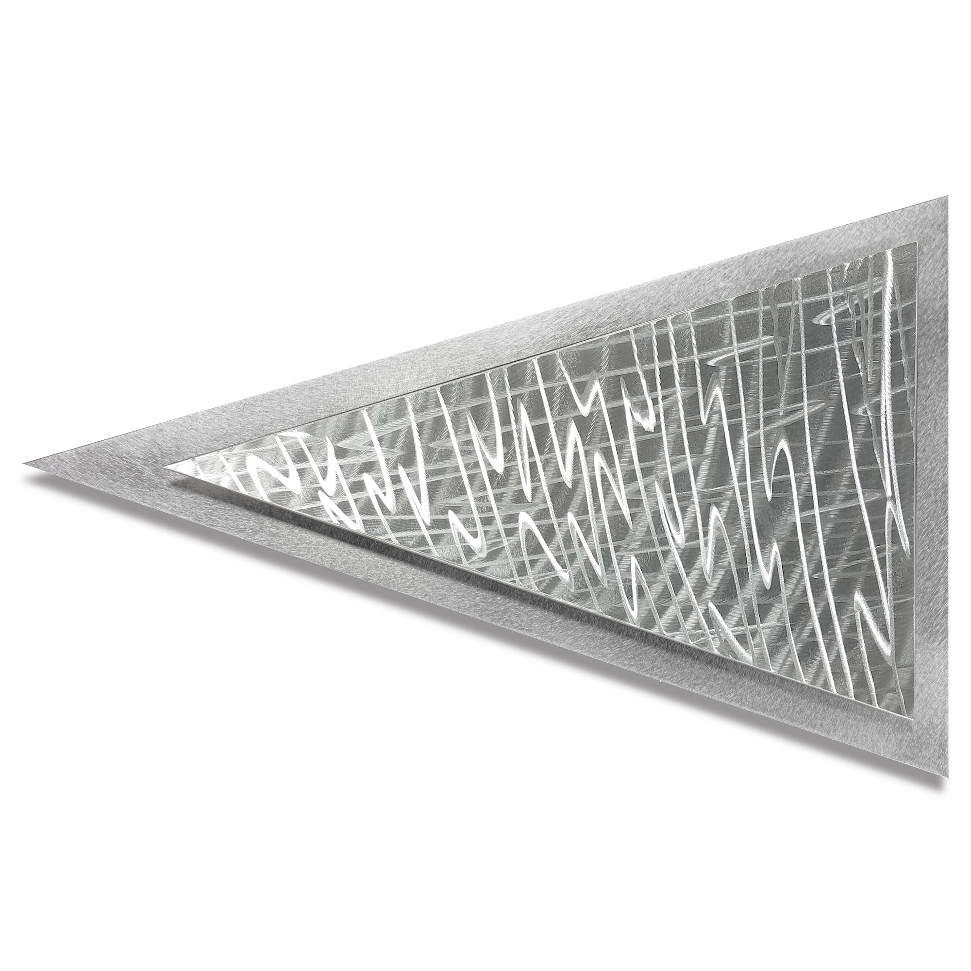 Helena Martin 'Frequency Arrow' 24in x 15in Modern Metal Art on Ground Metal