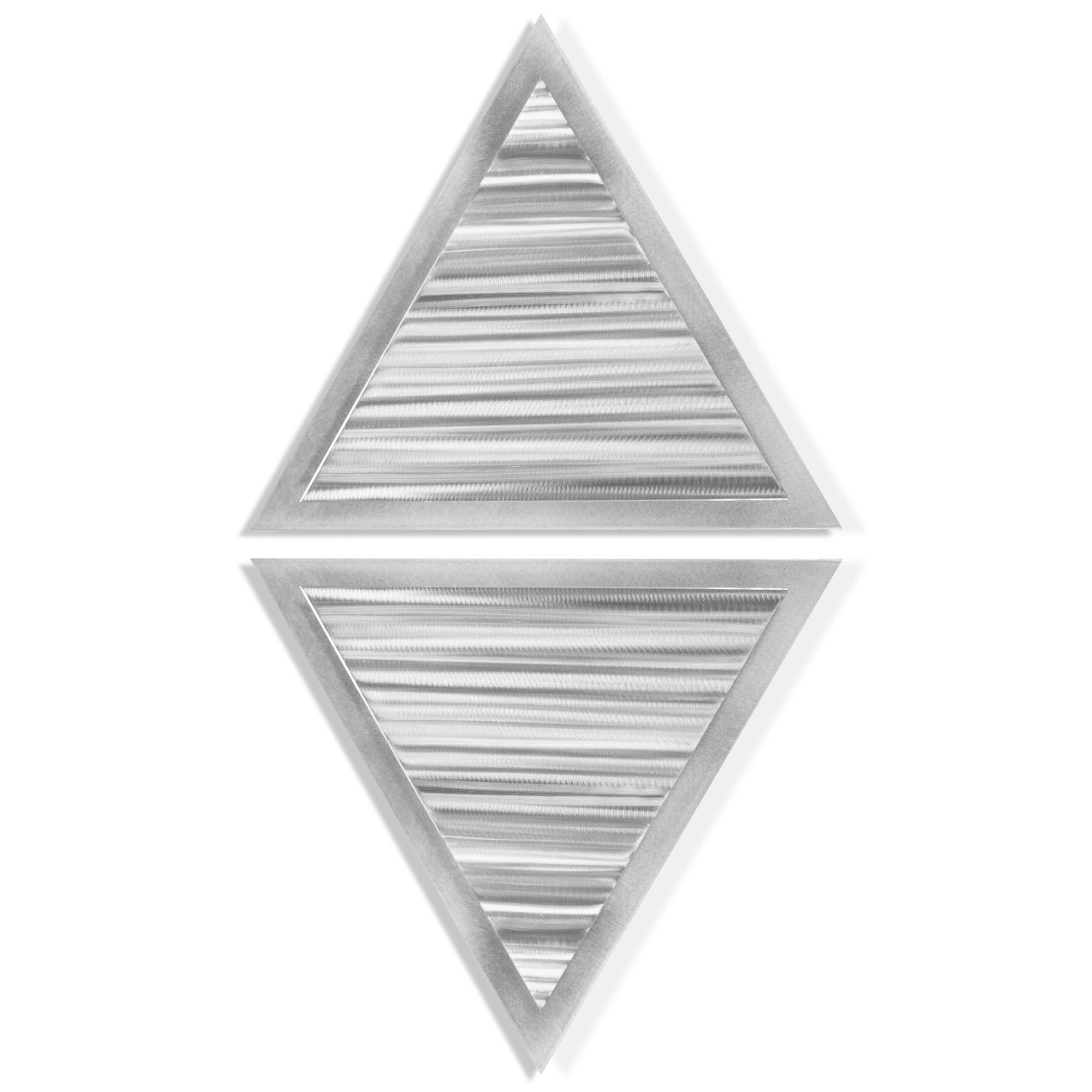 Helena Martin 'Strata Diamond' 15in x 28in Modern Metal Art on Ground Metal