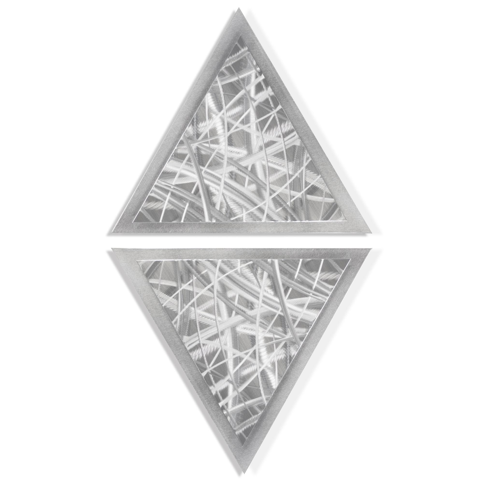 Helena Martin 'Thatched Diamond' 15in x 28in Modern Metal Art on Ground Metal