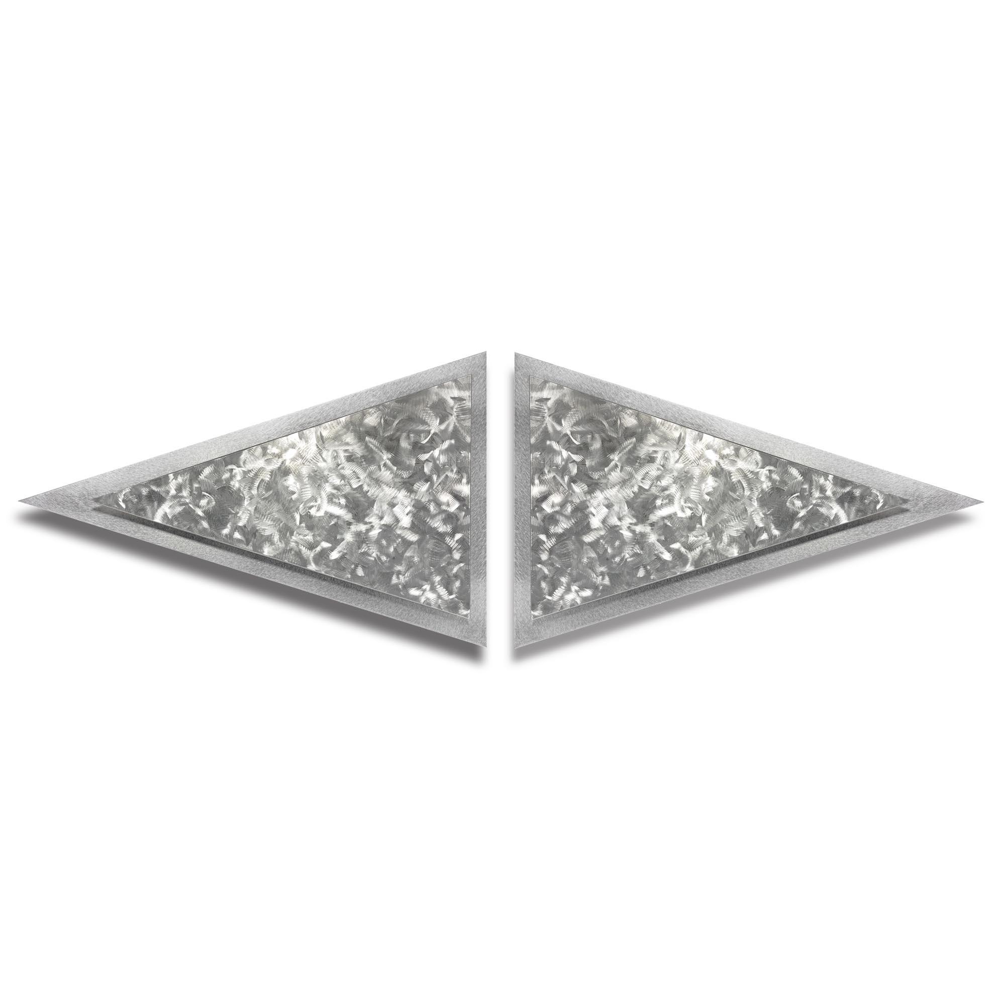 Helena Martin 'Flutters Diamond' 50in x 15in Modern Metal Art on Ground Metal