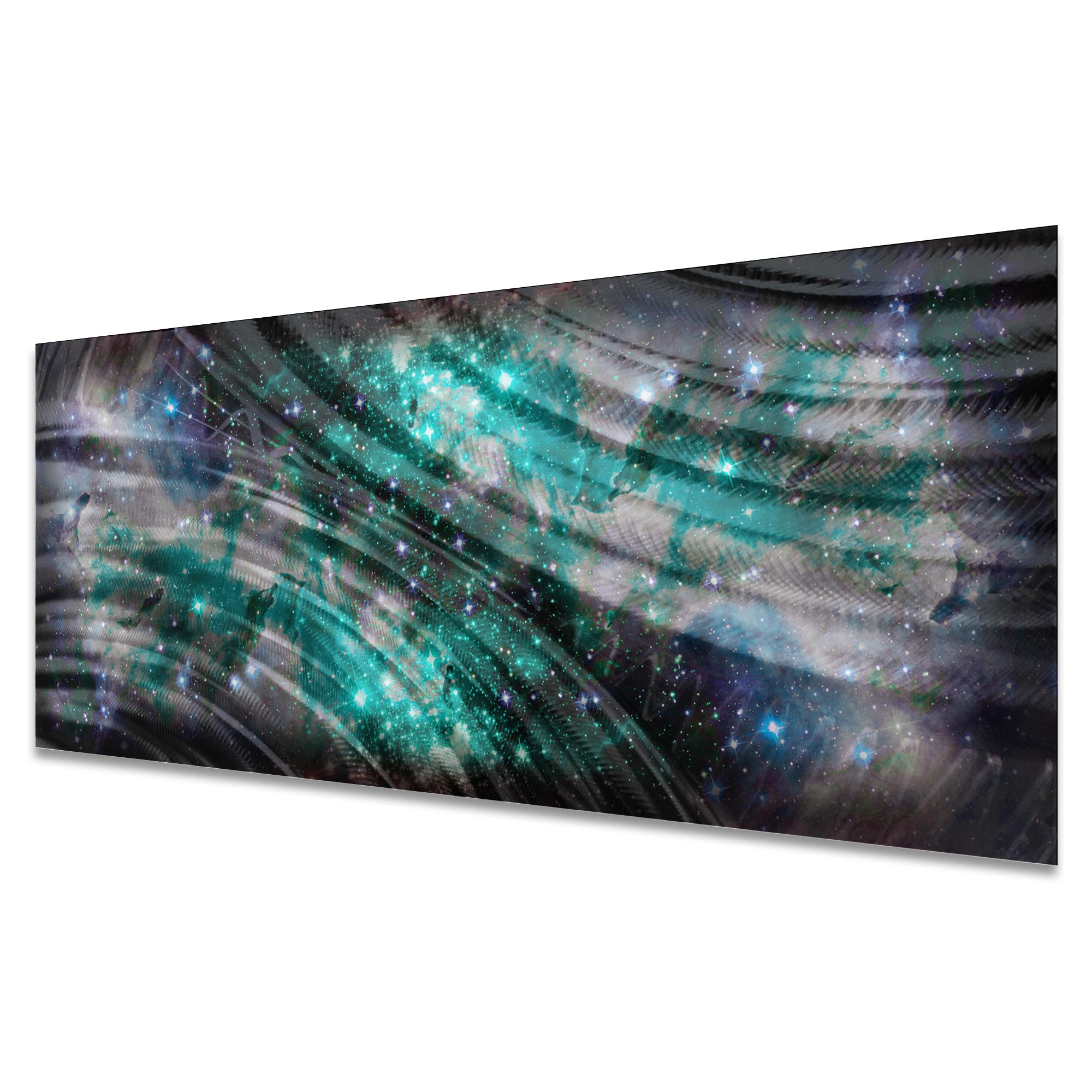 Cosmic Chill by Helena Martin - Original Abstract Art on Ground and Colored Metal - Image 2