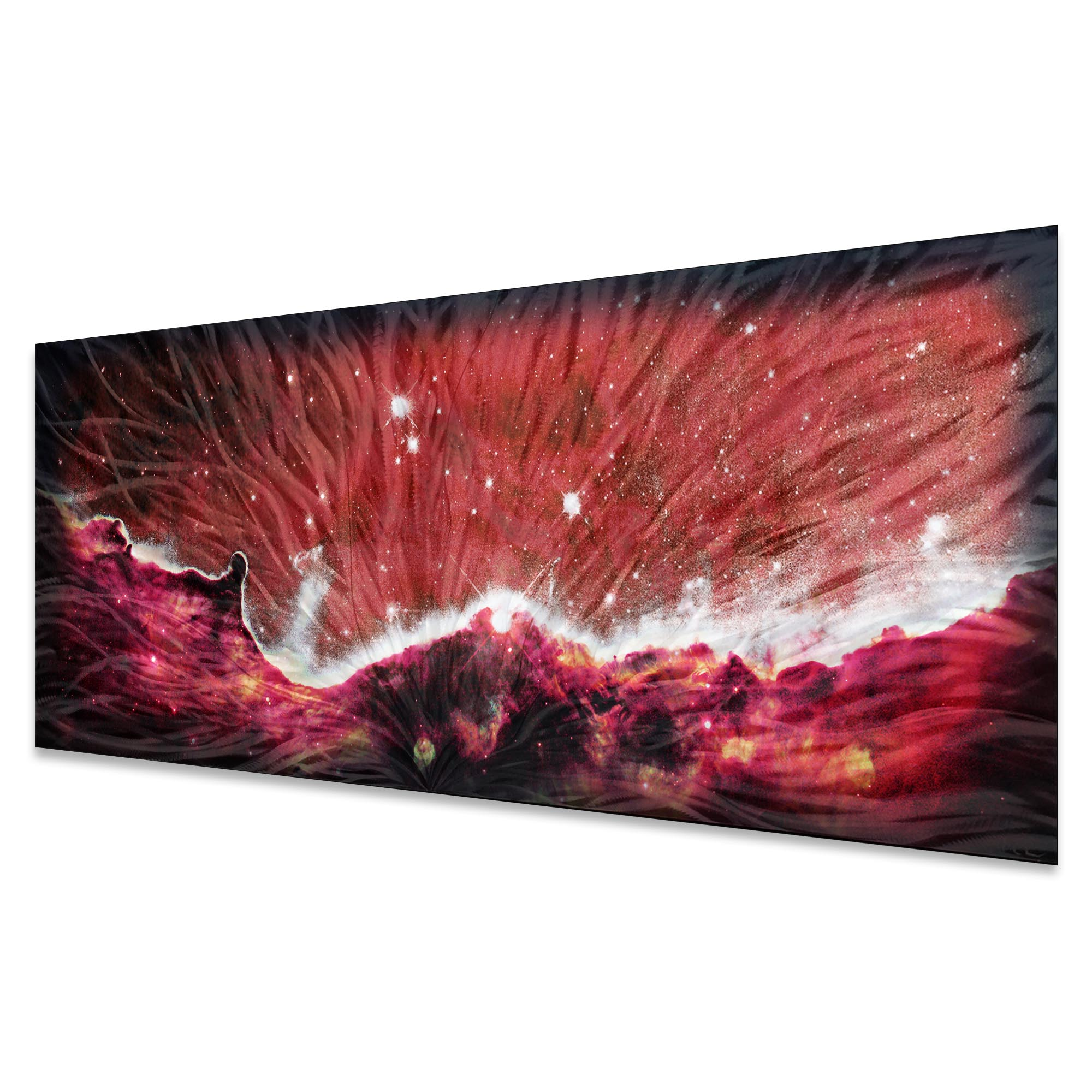 Celestial Landscape Red by Helena Martin - Original Abstract Art on Ground and Colored Metal - Image 2