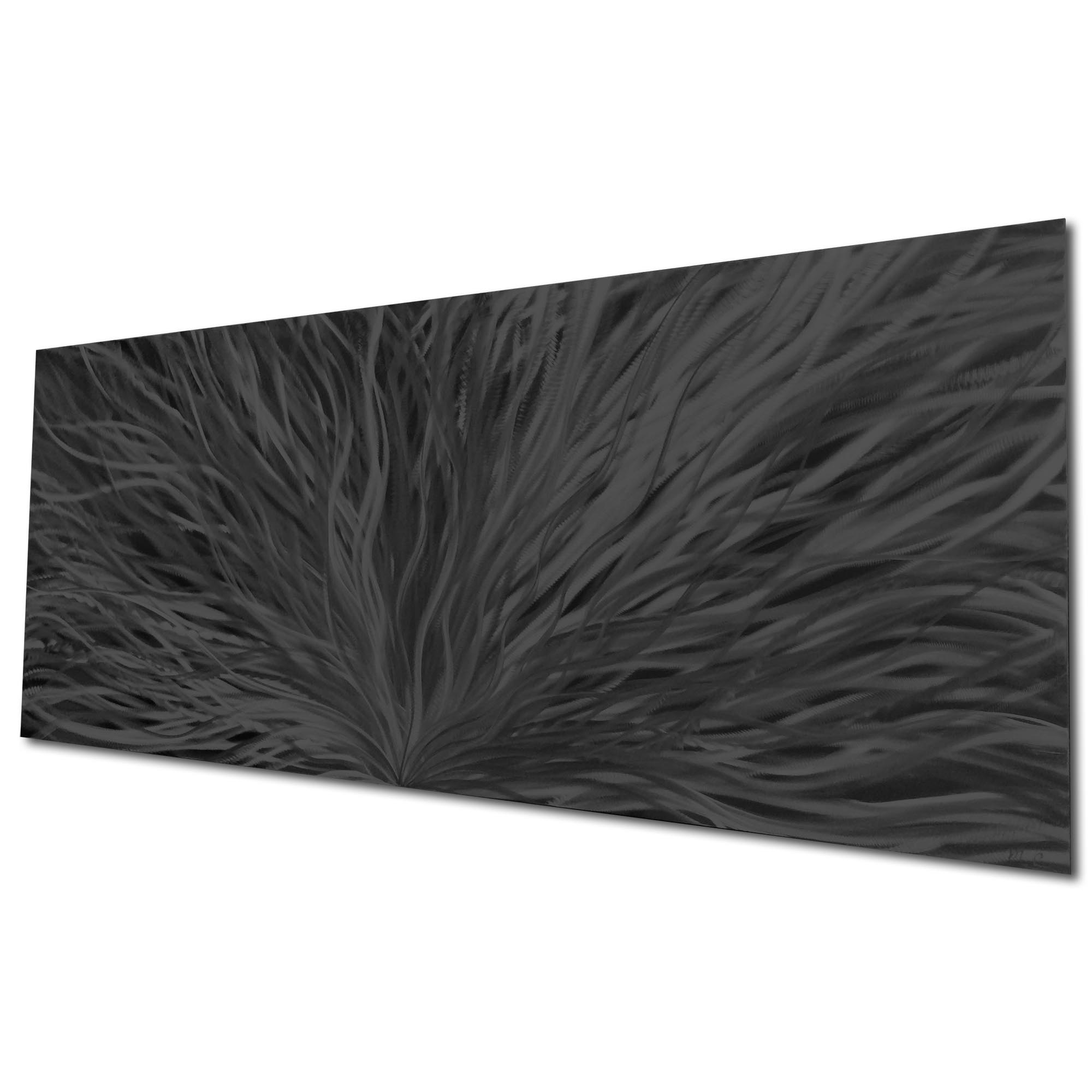 Blooming Black by Helena Martin - Original Abstract Art on Ground and Painted Metal - Image 3