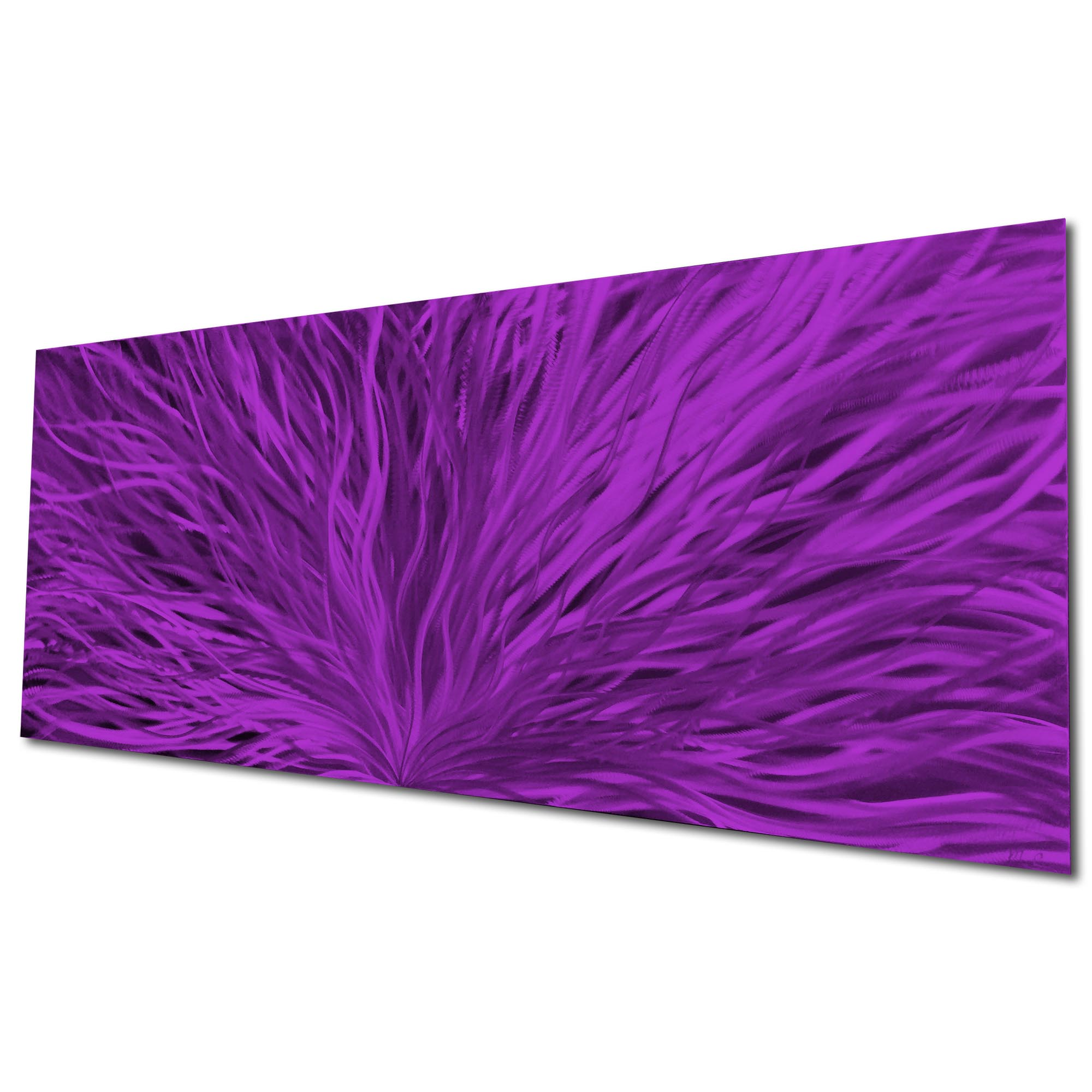 Blooming Purple by Helena Martin - Original Abstract Art on Ground and Painted Metal - Image 3