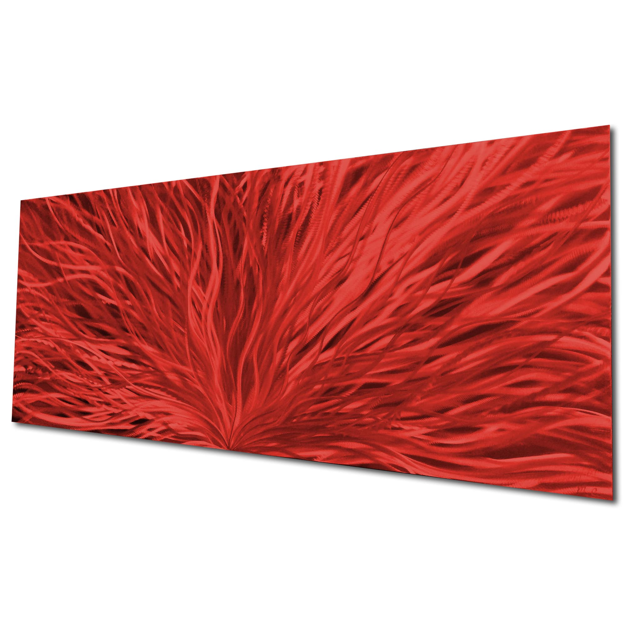 Blooming Red by Helena Martin - Original Abstract Art on Ground and Painted Metal - Image 3