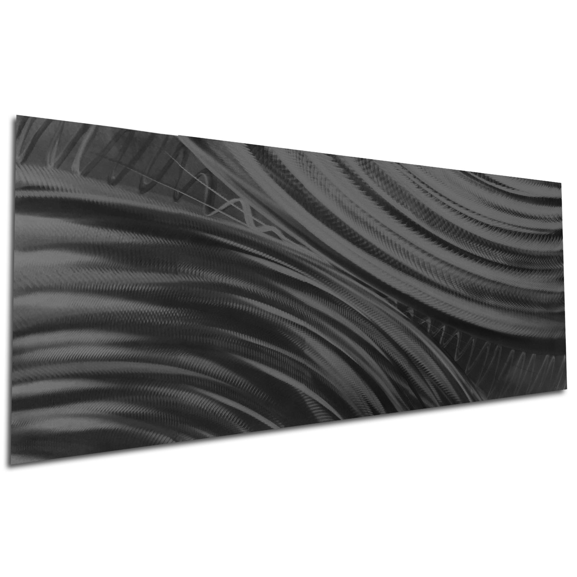 Moment of Impact Black by Helena Martin - Original Abstract Art on Ground and Painted Metal - Image 3
