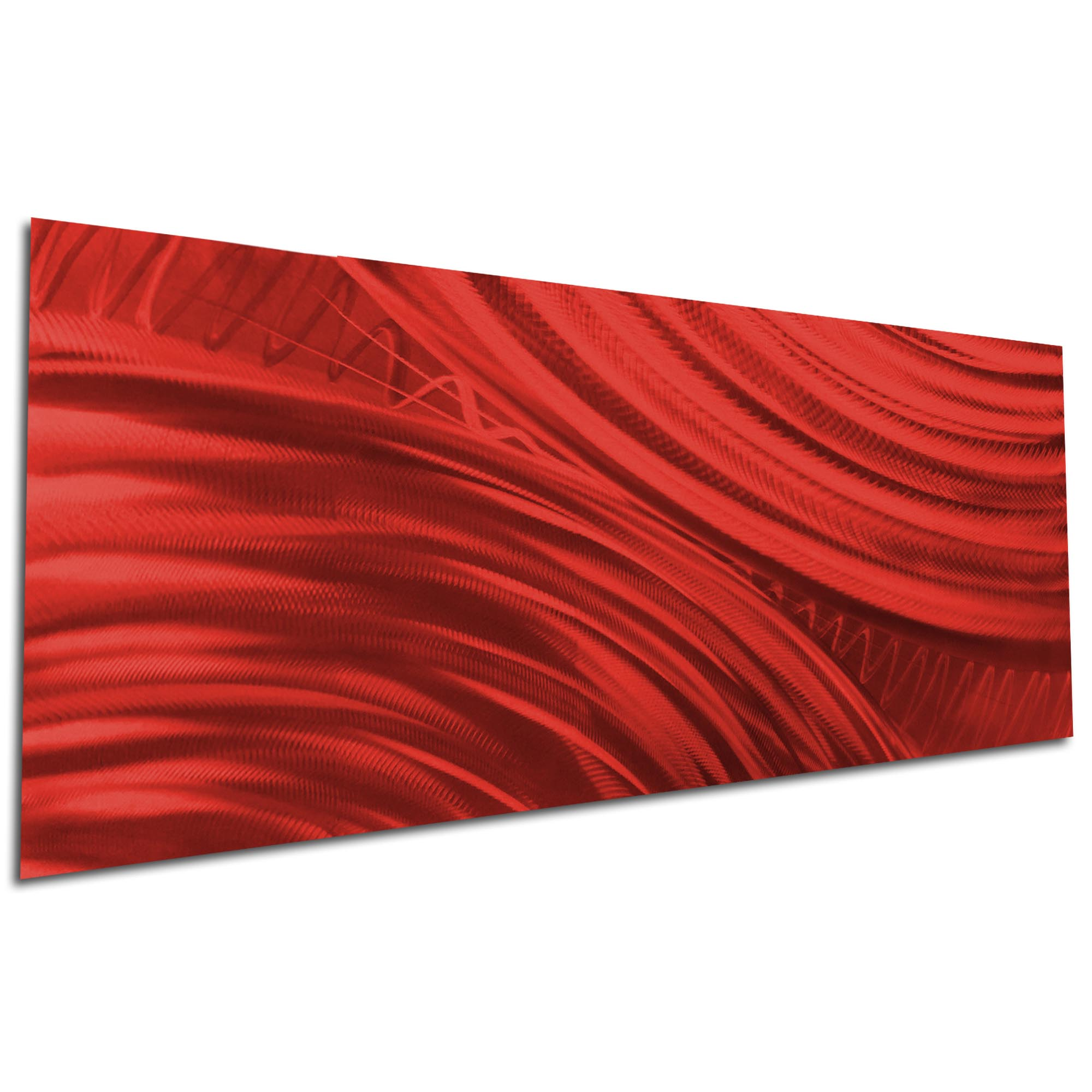 Moment of Impact Red by Helena Martin - Original Abstract Art on Ground and Painted Metal - Image 3